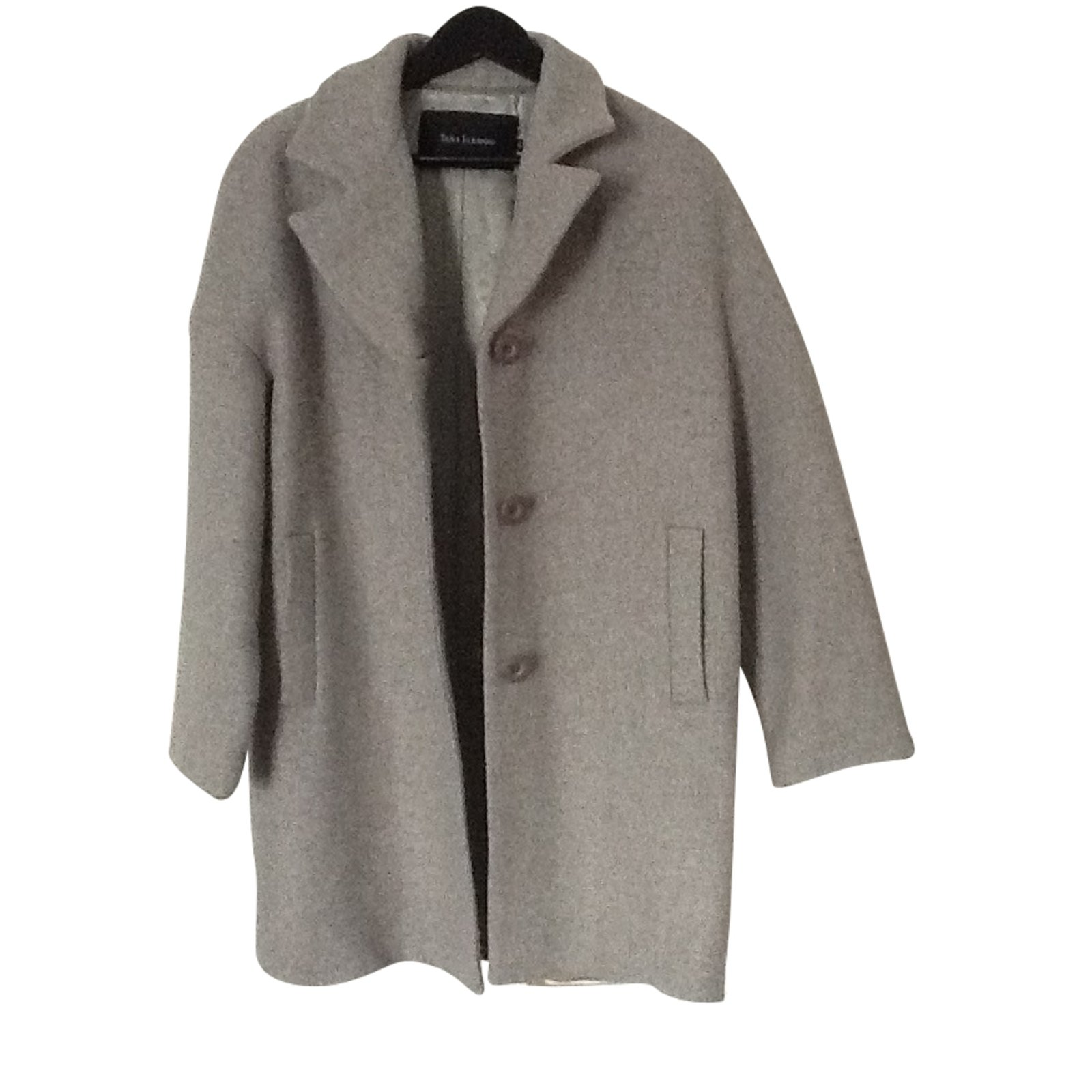 Tara Jarmon Coats Outerwear Wool Grey Ref91626