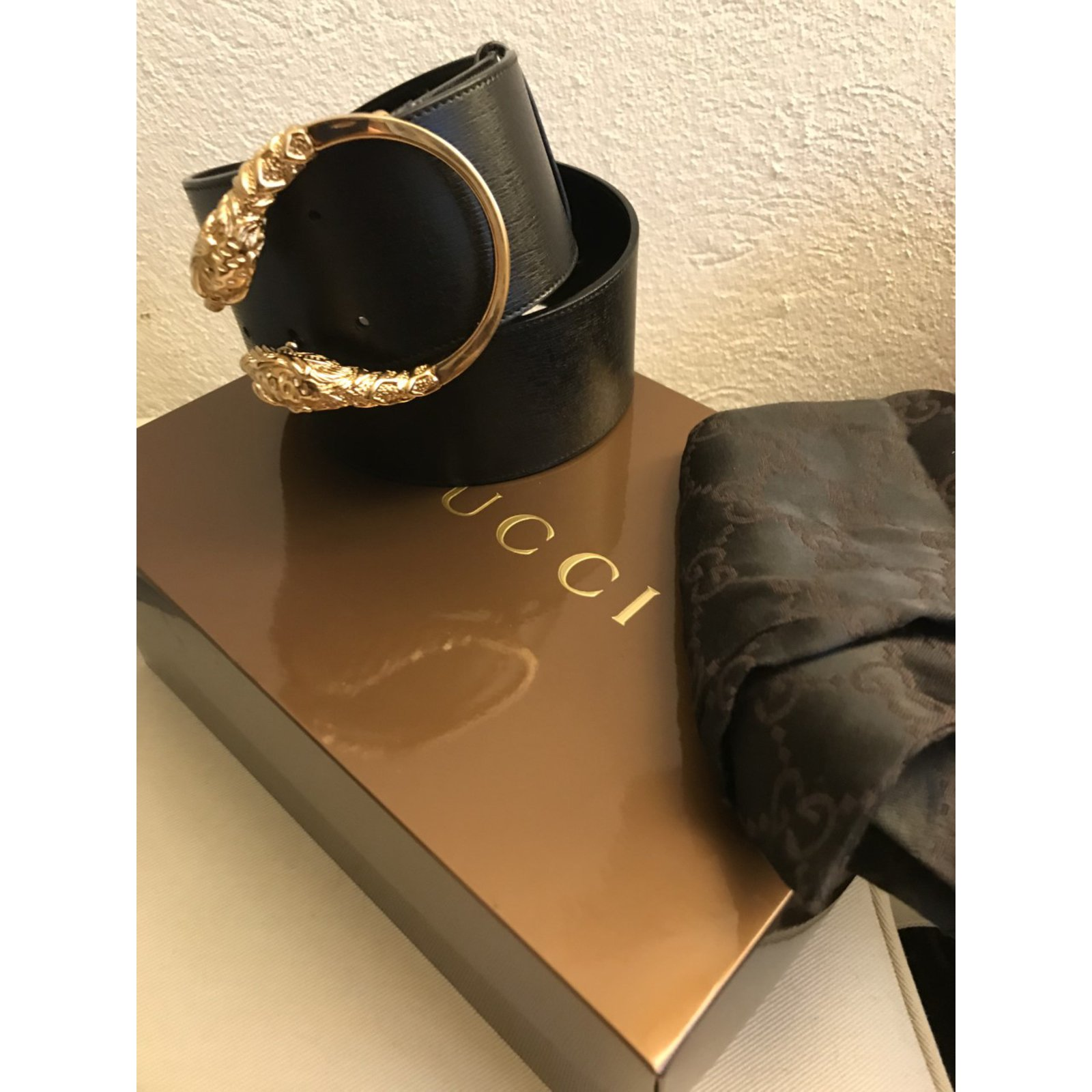 2e43bf422da Gucci Dionysus belt Belts Leather Black ref.91709 - Joli Closet
