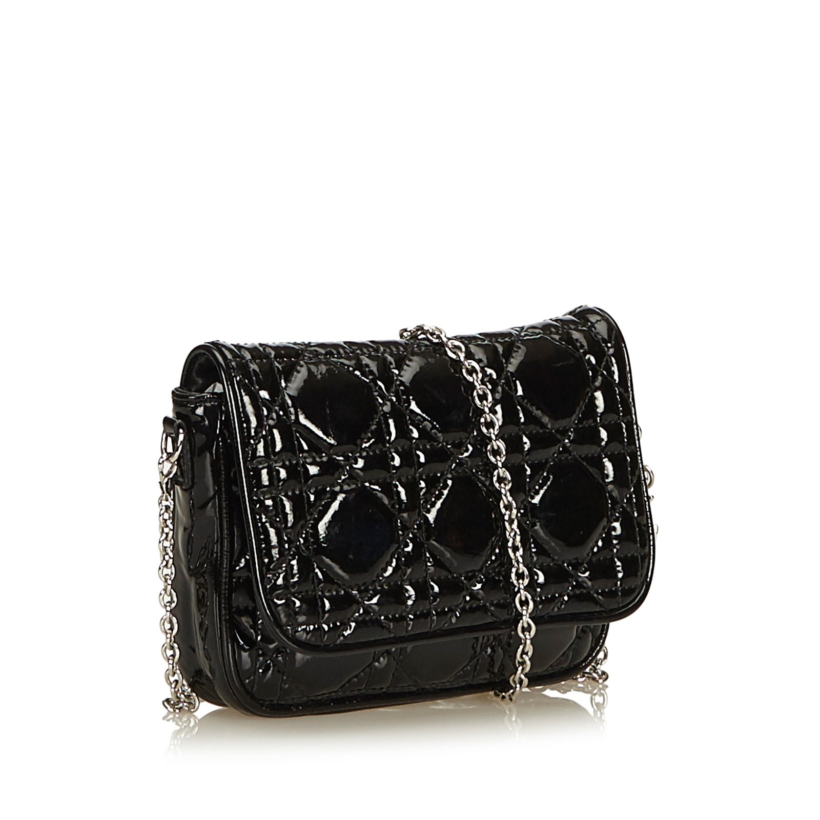 074114fc7669 Dior Cannage Patent Leather Crossbody Bag Handbags Leather