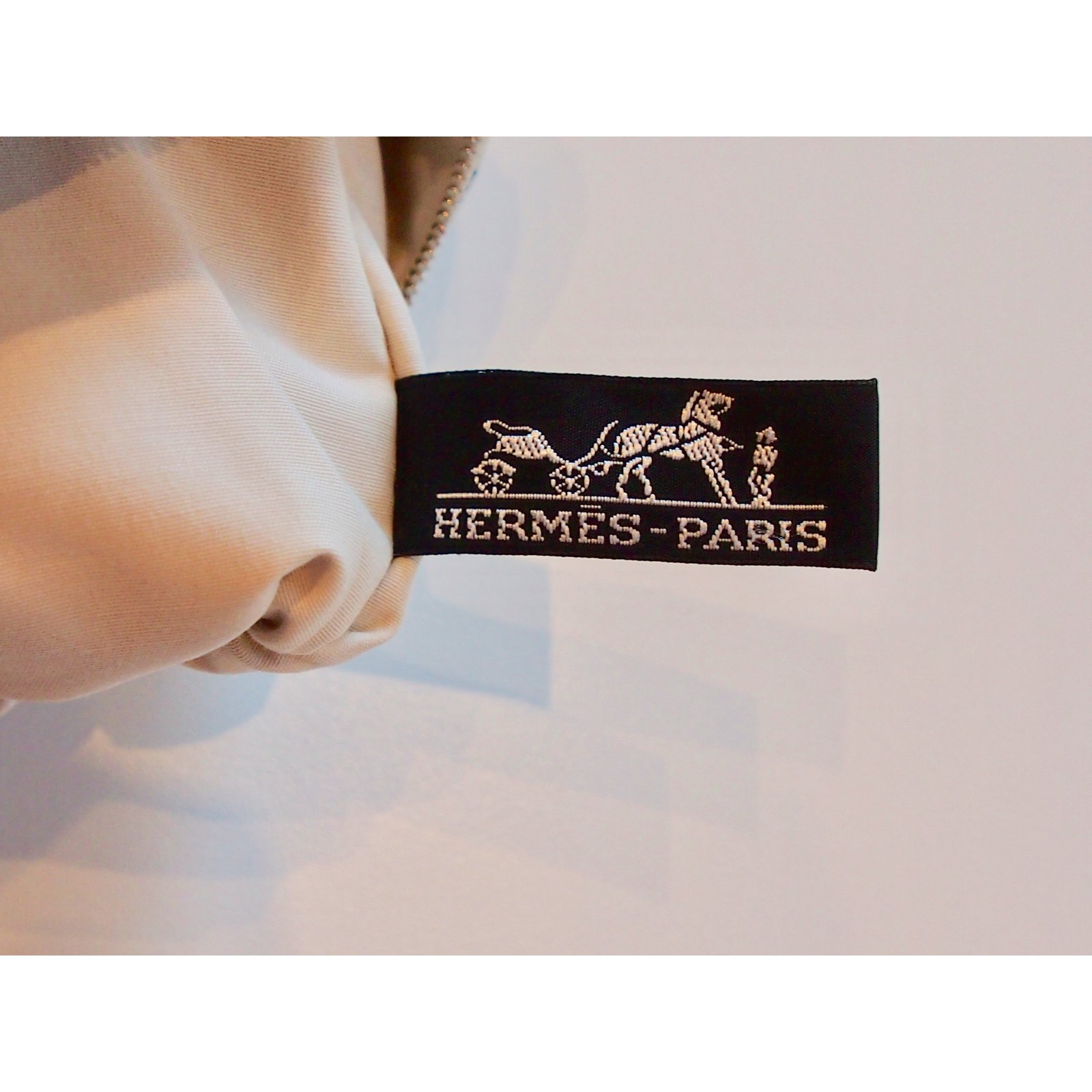 f68bb07da4fe Facebook · Pin This. Hermès Medium model Atlantic clutch Clutch bags Cotton  Dark blue ...