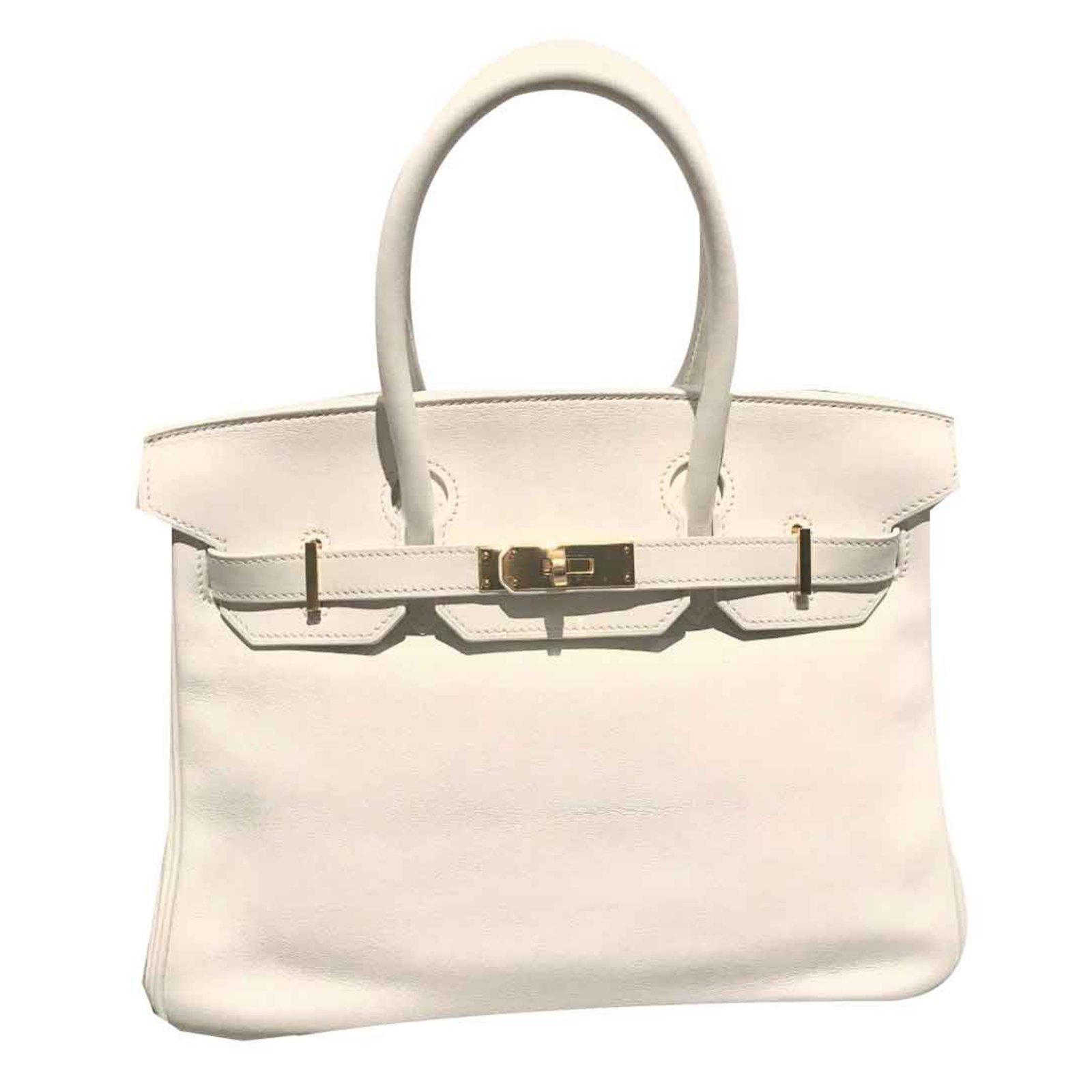 6537e72ab0 Hermès White Swift Birkin 30 GHW Handbags Leather White ref.92095 - Joli  Closet