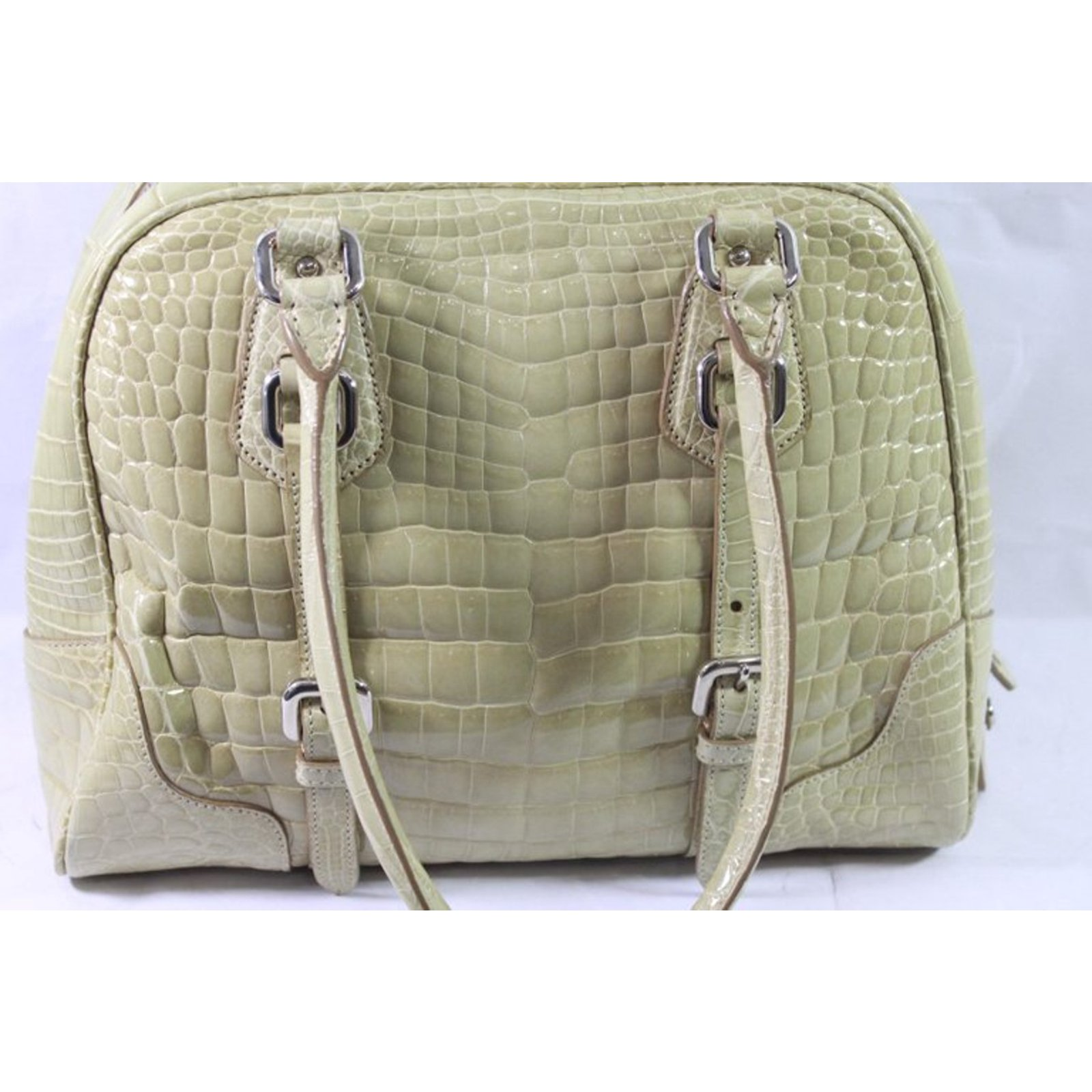 6b46da1f06f0 Prada Crocodile Bag Handbags Exotic leather Beige ref.92113 - Joli Closet