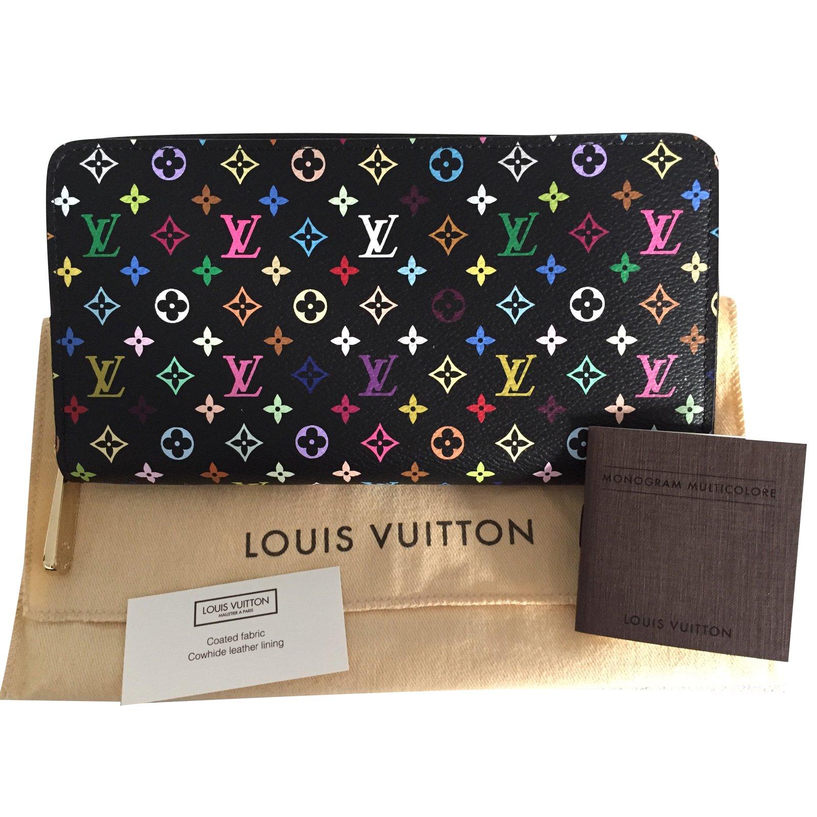 429f91966035 Portefeuilles Louis Vuitton Portefeuille Zippy multicolore Cuir Noir  ref.92649 - Joli Closet