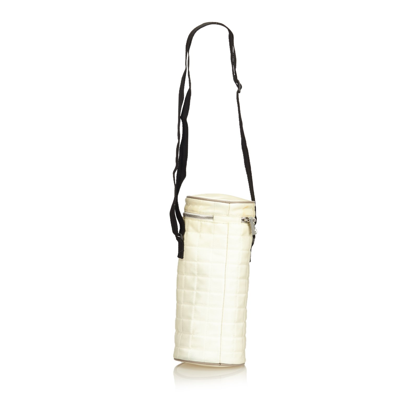 190b02c5122c Chanel Sport Line Quilted Nylon Shoulder Bag Handbags Nylon,Cloth Black, White,Cream ref.92950 - Joli Closet
