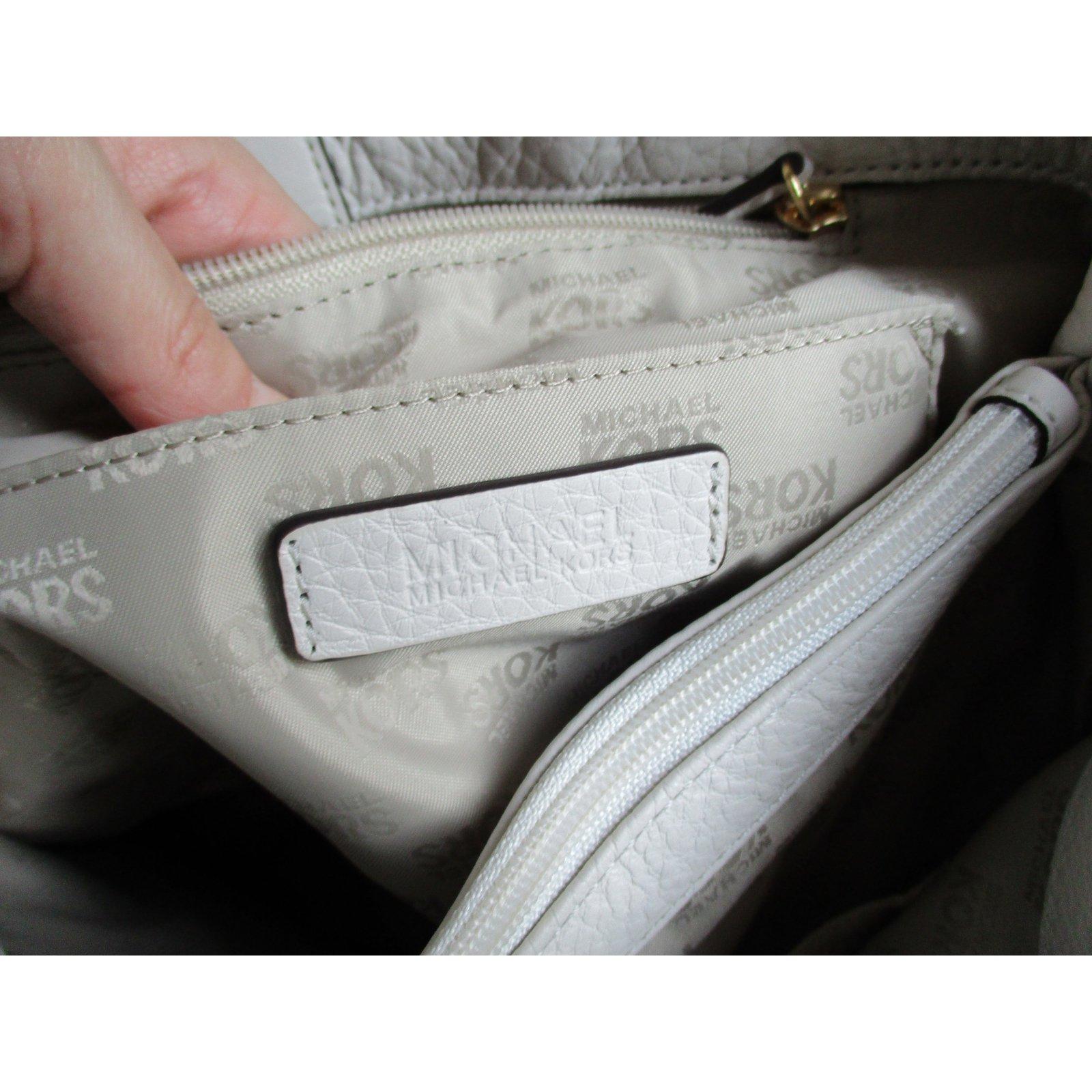 Facebook · Pin This. Michael Kors Fulton Chain Tote Vanilla Color Leather  Handbags Leather Beige ... c113c911c446e