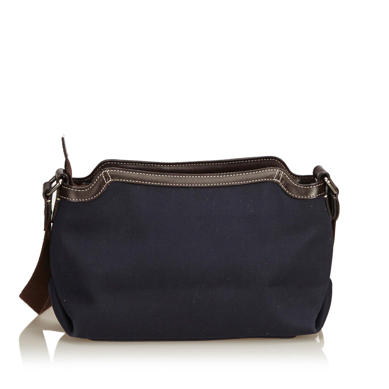 12e4251c42c9 Burberry Canvas Crossbody Bag Handbags Leather