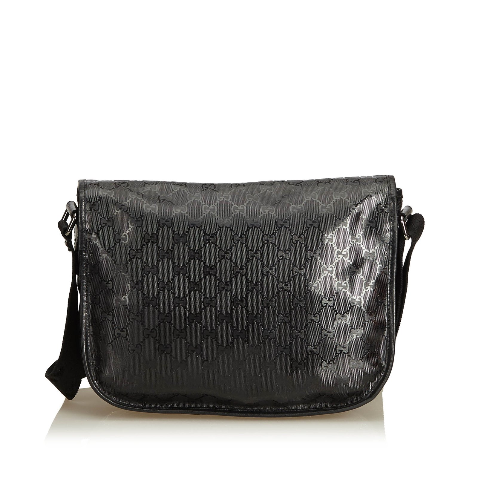 178631224ead Gucci Guccissima Imprime Messenger Bag Handbags Leather,Other,Plastic Black  ref.94744 - Joli Closet