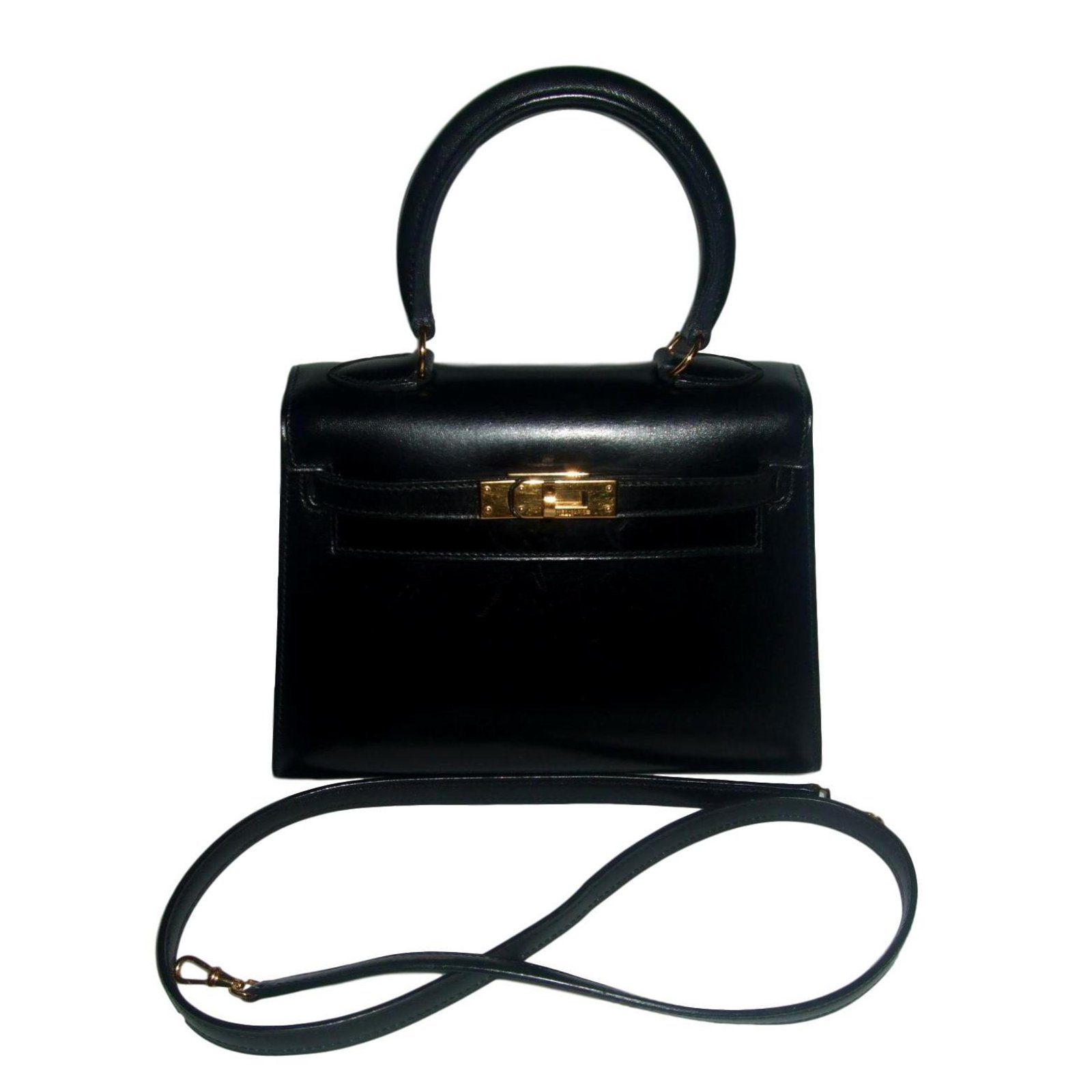 Facebook · Pin This. Hermès MINI KELLY SELLIER Handbags Leather Black ref. 95072 8f2079aca2f68