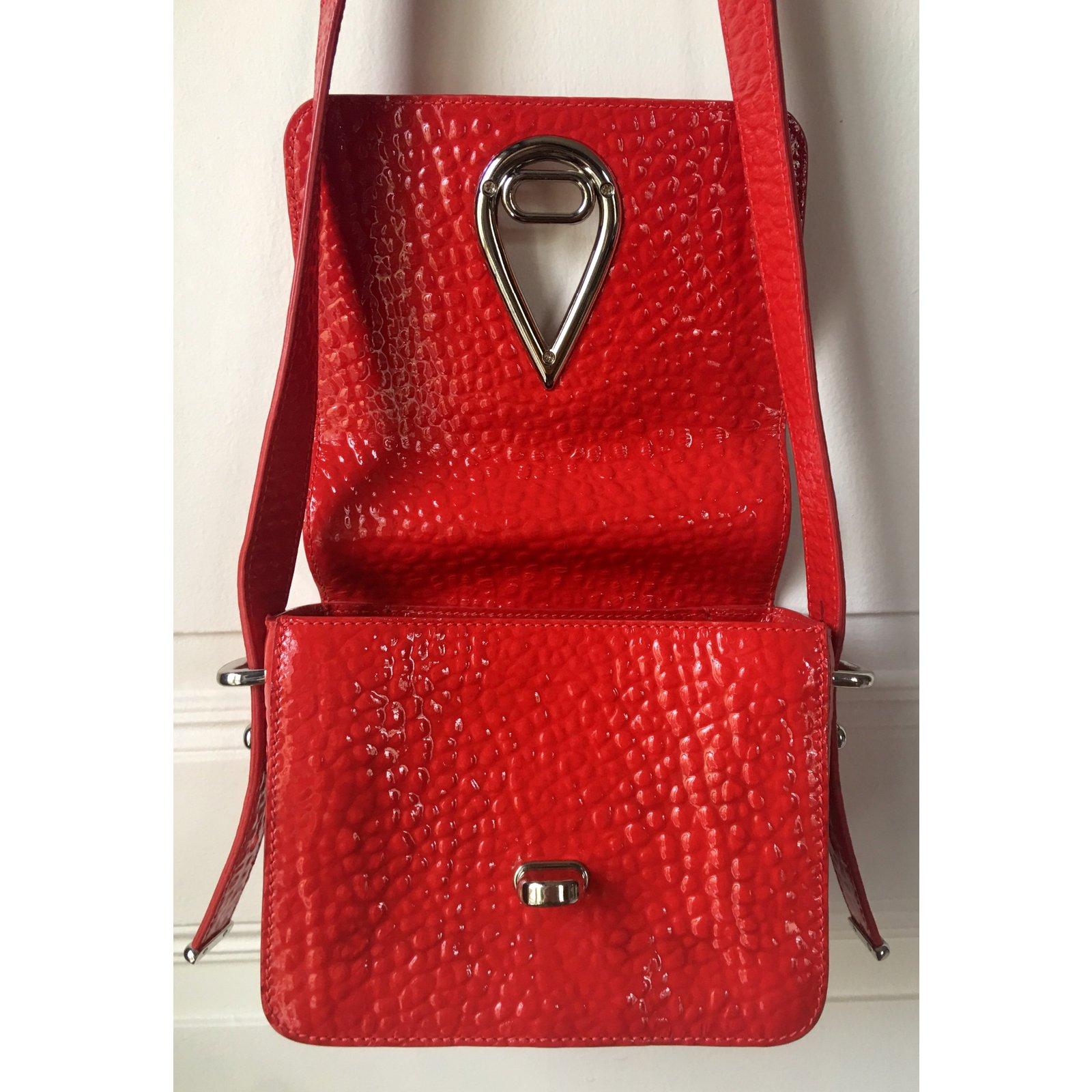 0791c7d0ef Kenzo Raindrop Handbags Leather,Patent leather Silvery,Red,Orange ref.95095  - Joli Closet