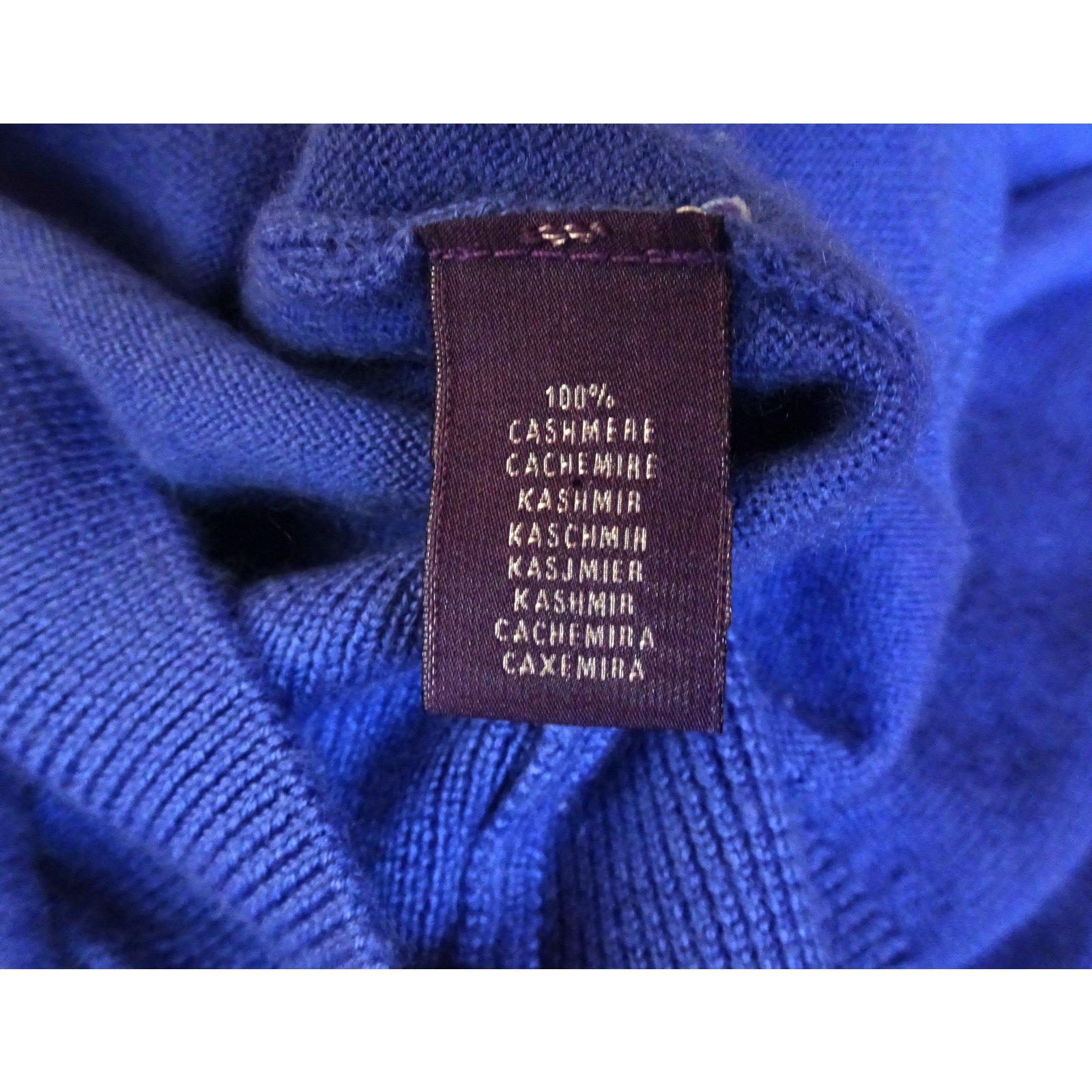 3b92822ac Polo Ralph Lauren RALPH LAUREN PURPLE LABEL TURTLENECK SWEATER Sweaters  Cashmere Blue ref.98195 - Joli Closet