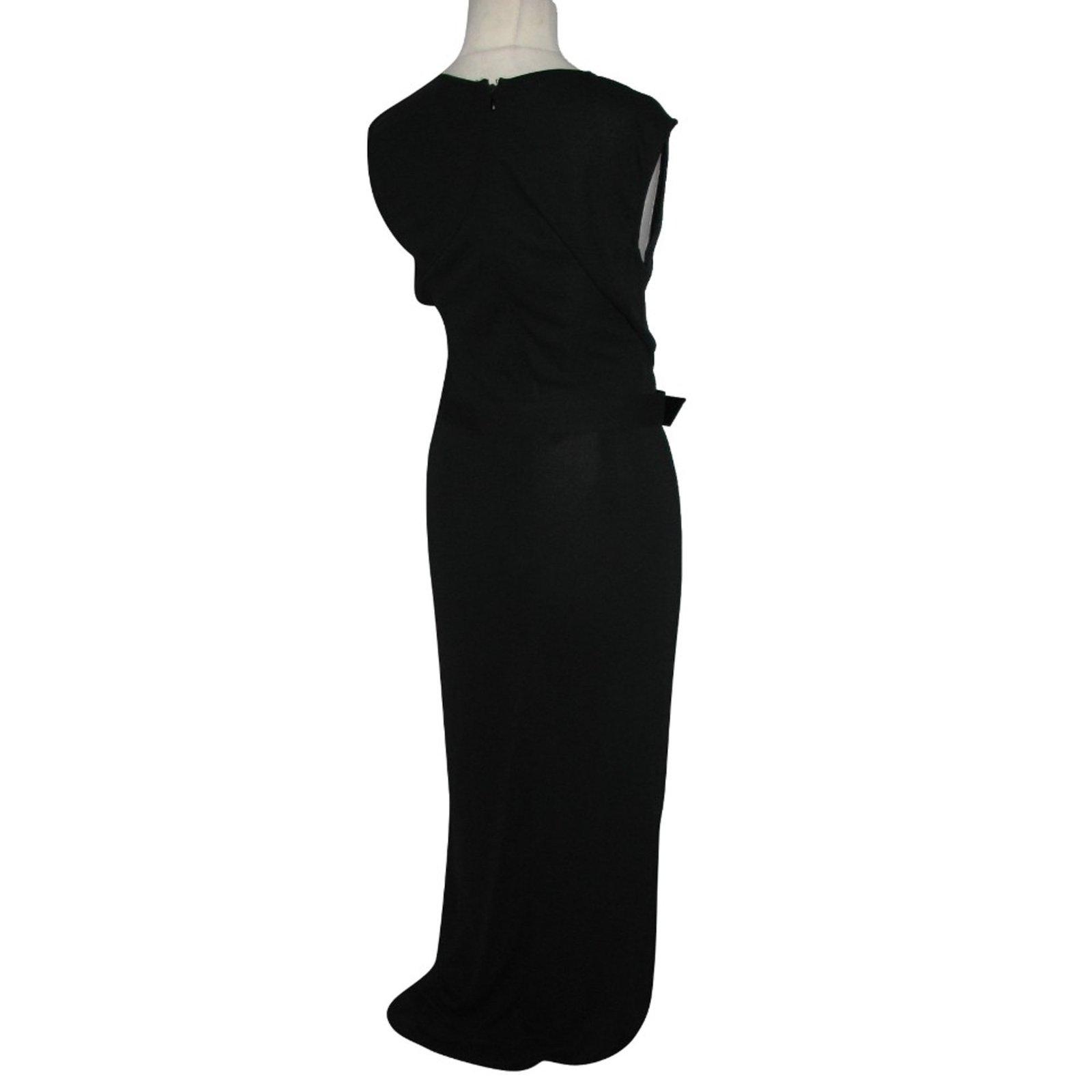 e03b64ba2f6 Max Mara Long black dress with belt Dresses Other Black ref.98495 - Joli  Closet