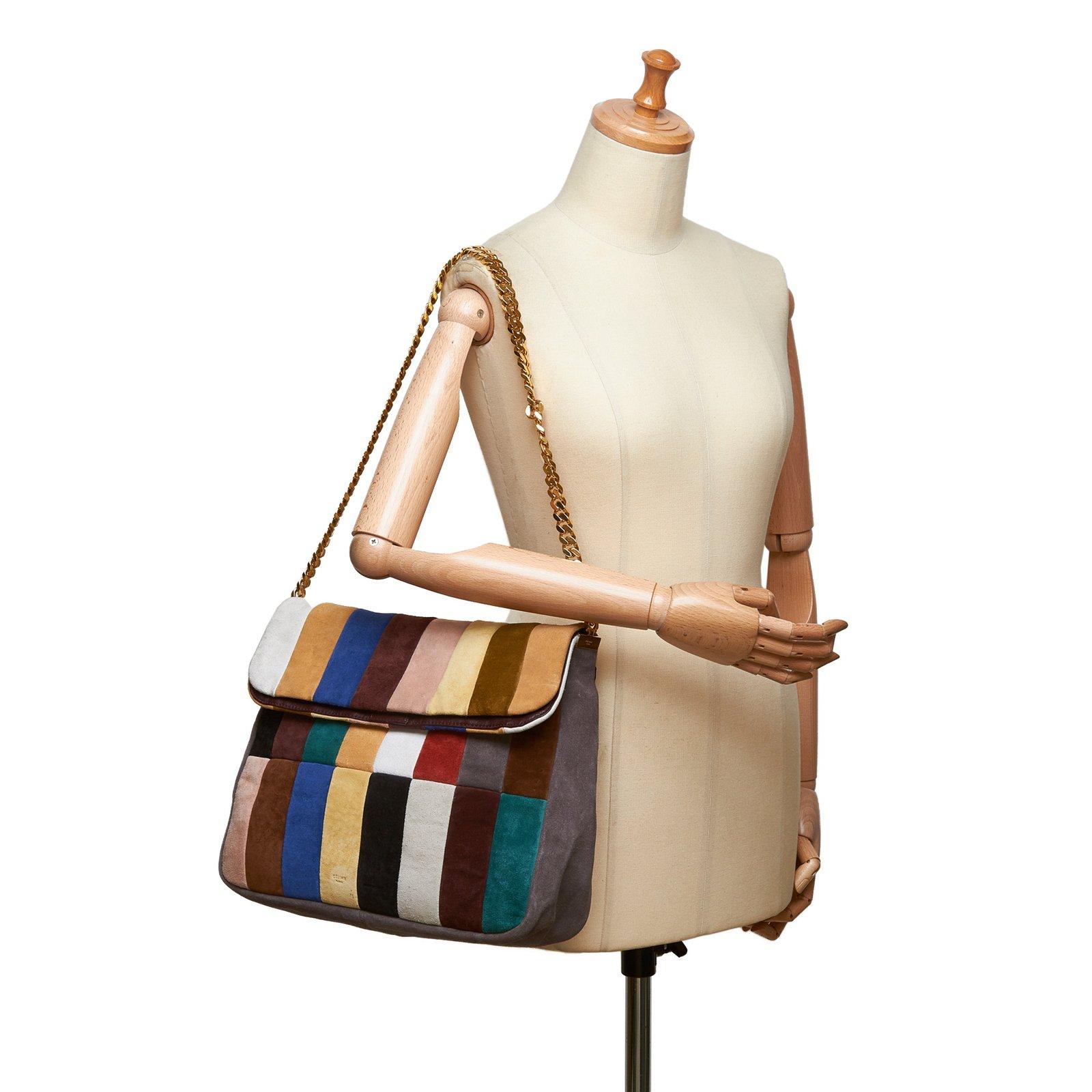 21d41024f43 Céline Multi Gourmette Suede Chain Shoulder Bag Handbags Suede ...