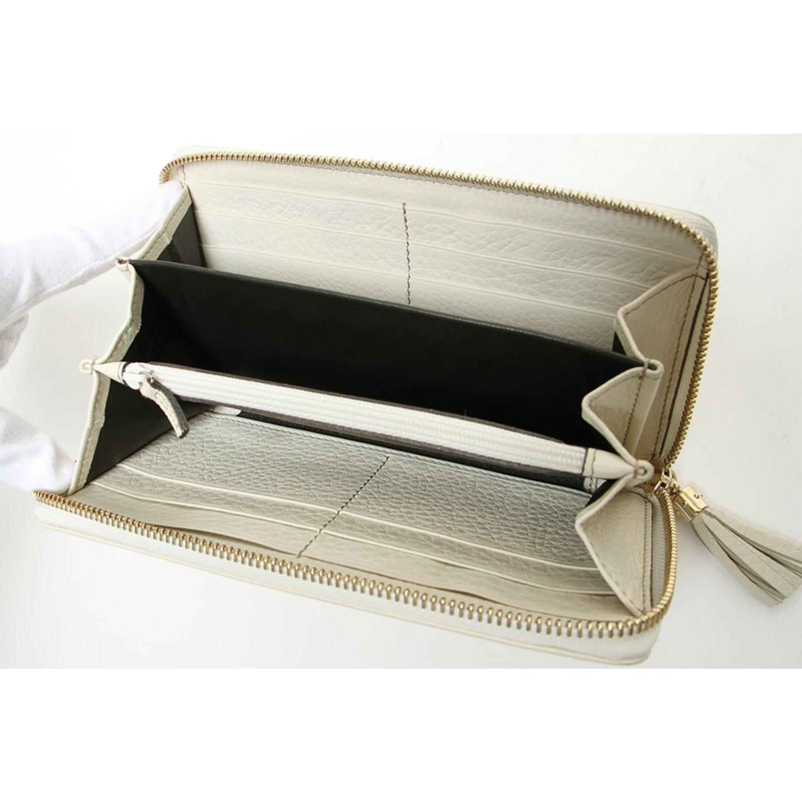 bdc98d6b9dd Gucci Leather Soho Long Wallet Purses
