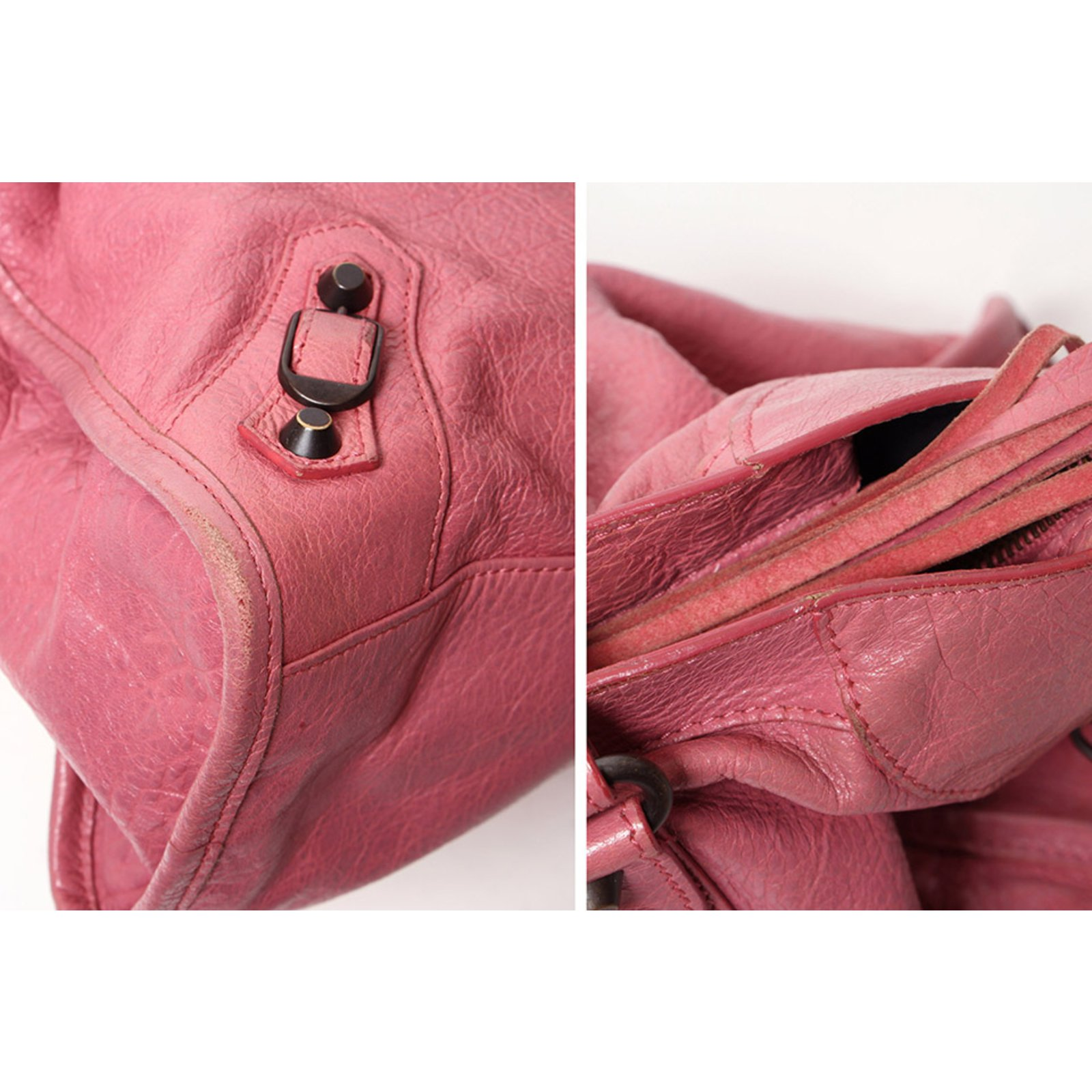 b8933a99806 Balenciaga Motocross Classic City Handbags Leather,Other Pink ref.99045 -  Joli Closet