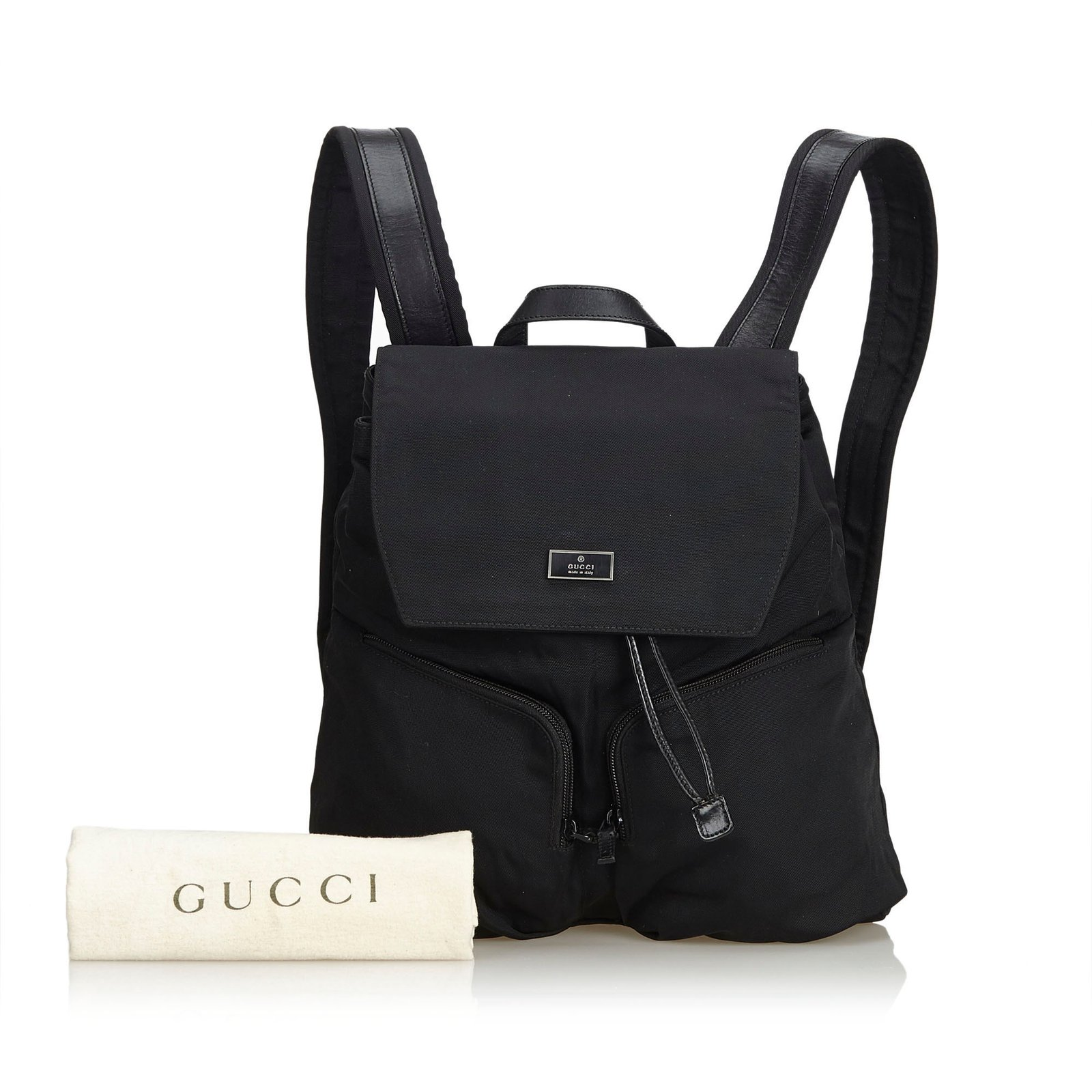 Gucci Nylon Drawstring Backpack Backpacks Leather fbcf0d06845e1