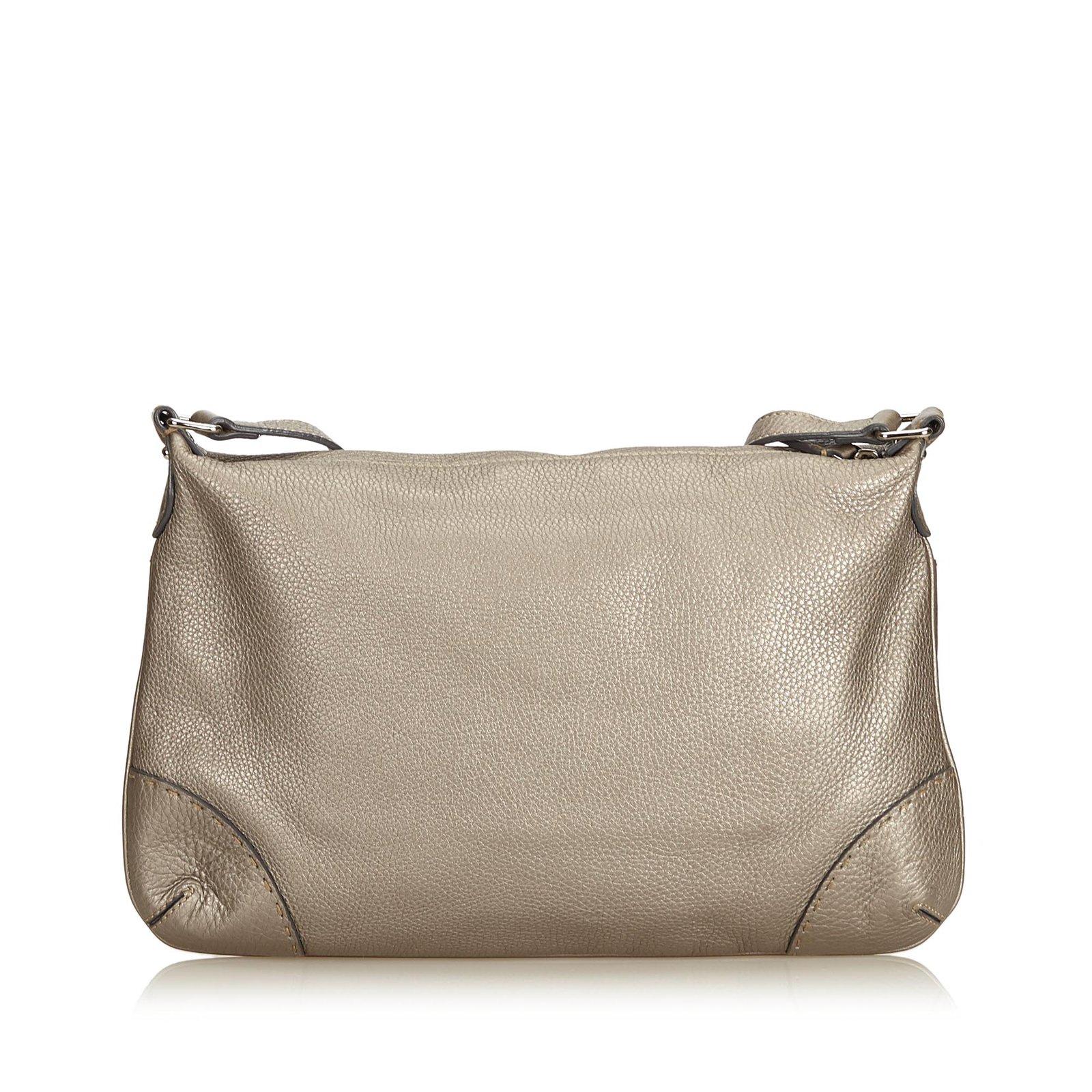 7df90177e616 Fendi Leather Selleria Crossbody Bag Handbags Leather