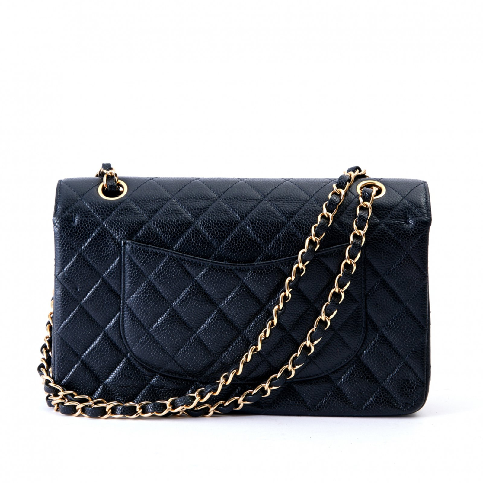 2a76bc561cef Chanel TIMELESS CLASSIC 25 BLACK CAVIAR Handbags Leather Black ref ...