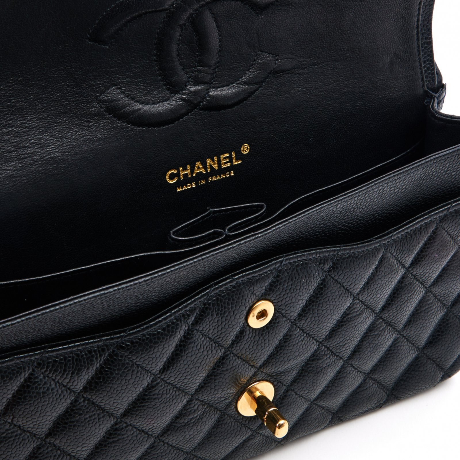 08e6eaaa9282 Chanel TIMELESS CLASSIC 25 BLACK CAVIAR Handbags Leather Black ref.100241 -  Joli Closet