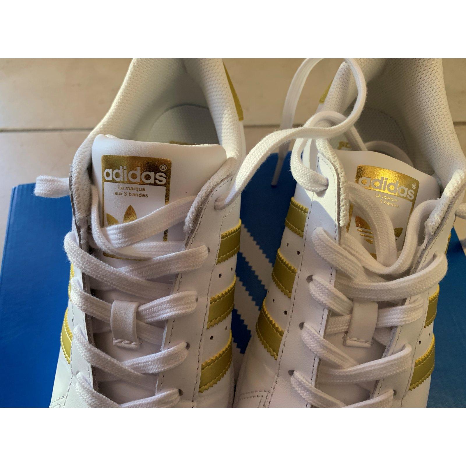 Adidas Superstar Basketball New Gold Color Band