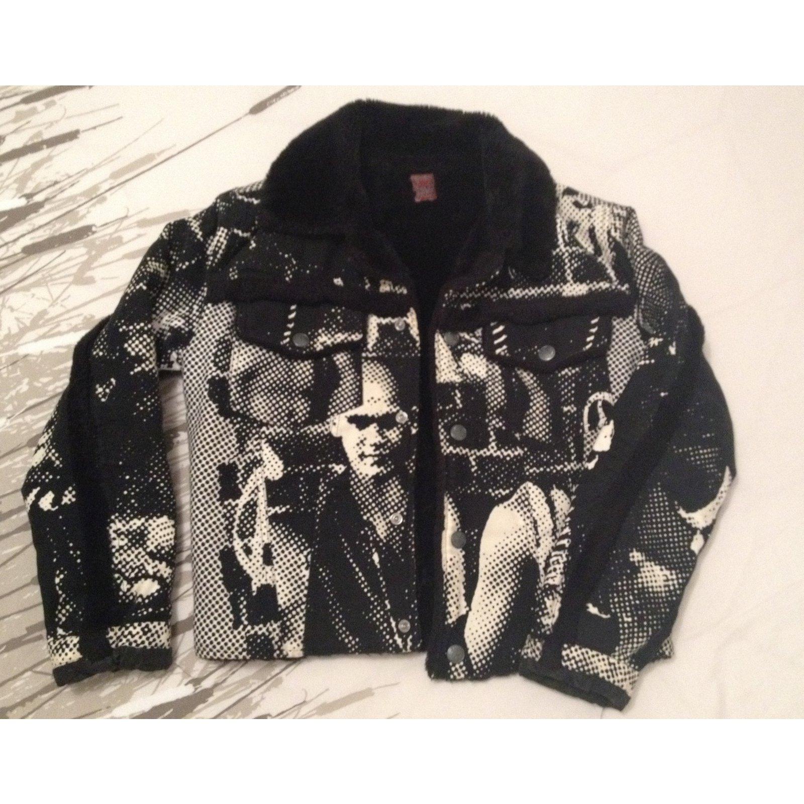 jean paul gaultier vintage jacket fight racism jackets. Black Bedroom Furniture Sets. Home Design Ideas