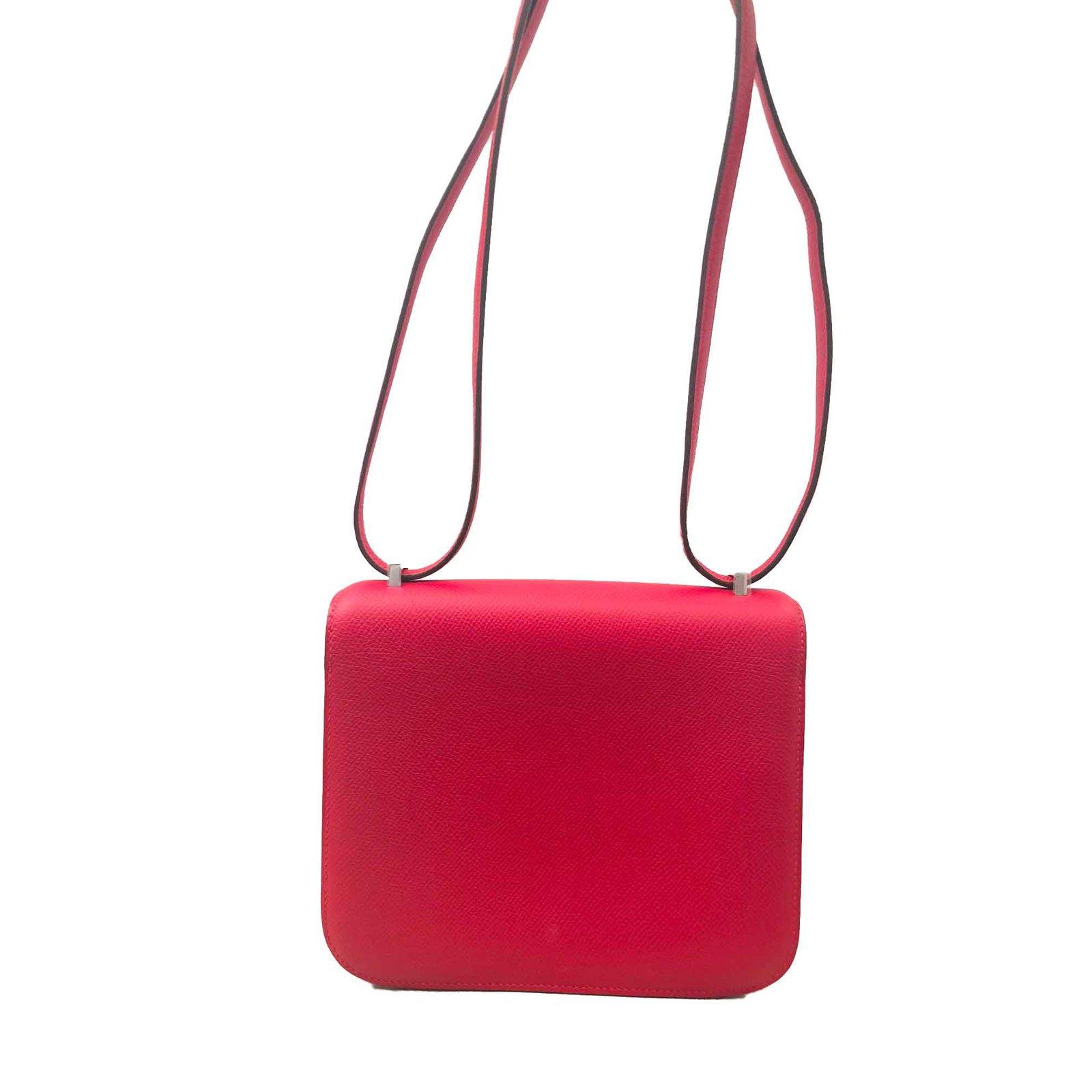 295b0f8f78be Hermès Sac 18 Main Sacs Constance Rouge Cuir Ref Hermes À npwtqYxAE