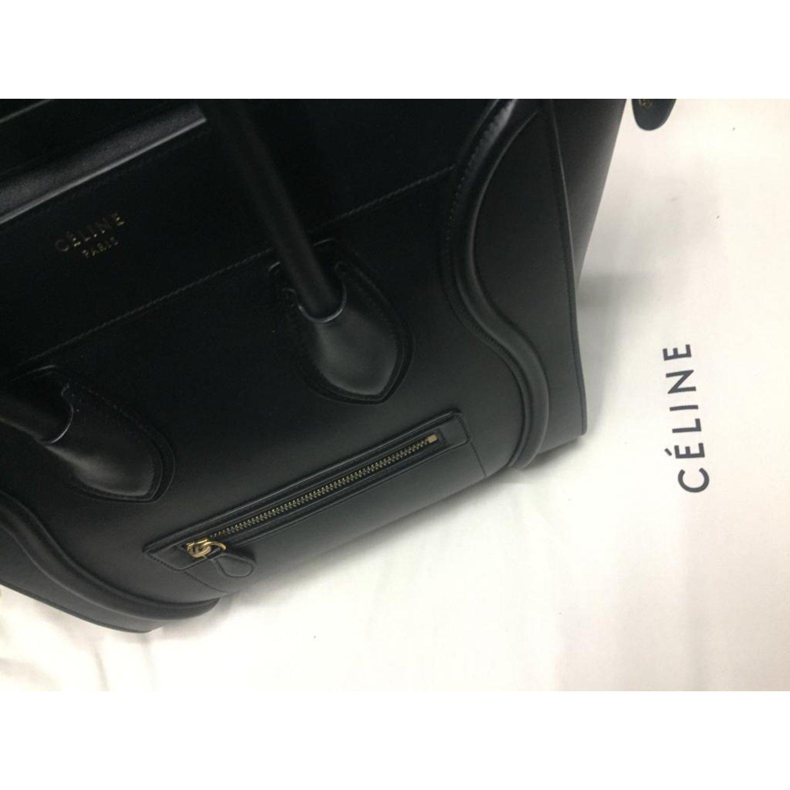 78667ec61d Céline CELINE MINI LUGGAGE SAC BREND NEW BLACK Handbags Leather Black ref.101298  - Joli Closet