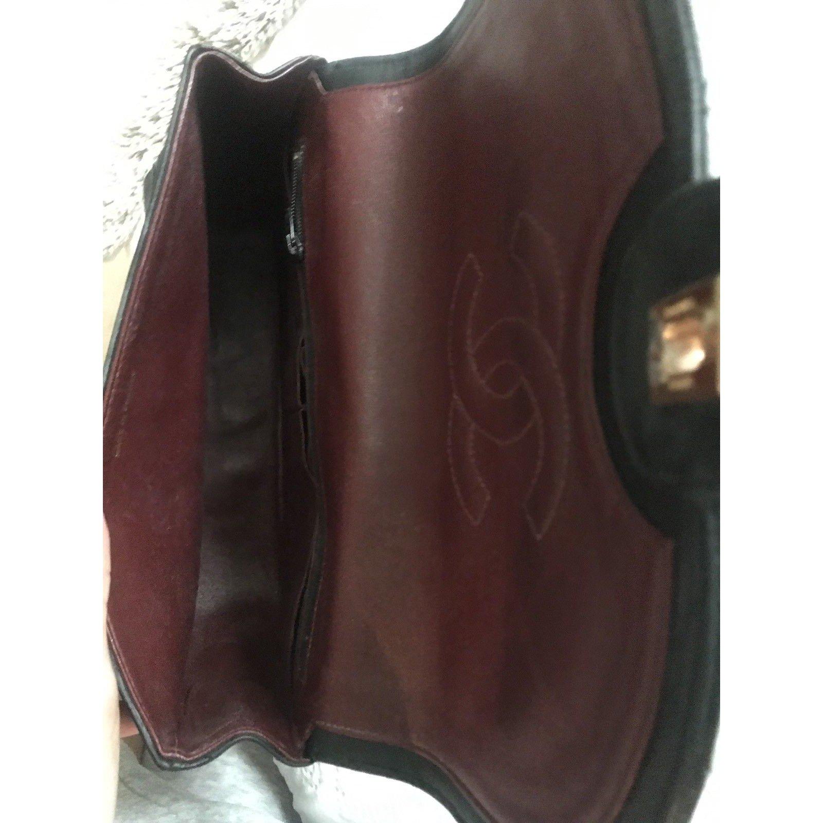 fc7c21213d28 Chanel TIMELESS Large Vintage Clutch Handbags Leather Black ref.101576 -  Joli Closet