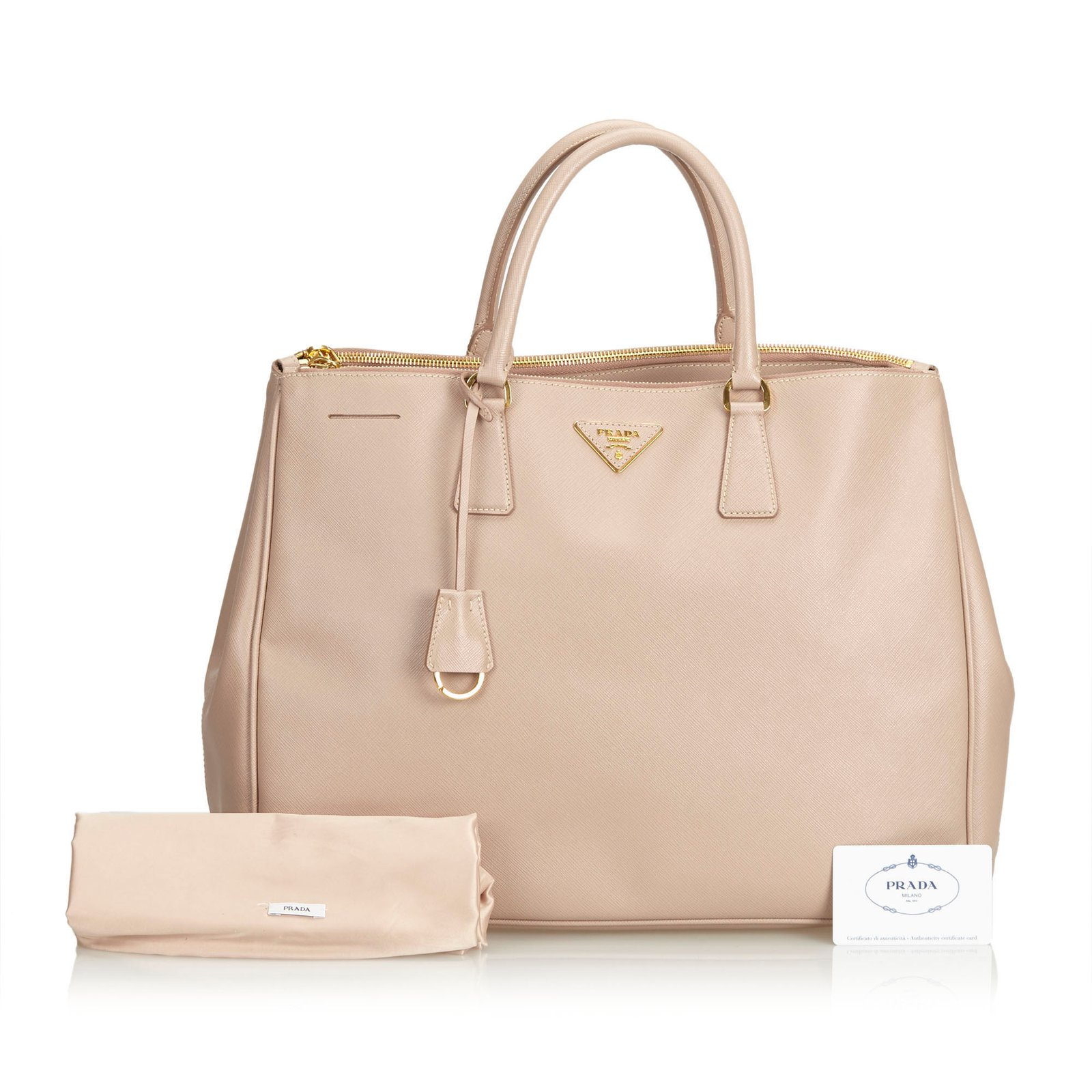 1c31446a7756 Prada Saffiano Leather Tote Bag Totes Leather,Other Brown,Beige ref ...