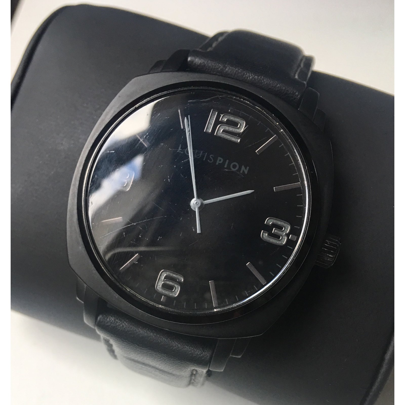2c7cd482ae435e Autre Marque Louis Pion Watch Quartz Watches Leather,Steel Black ref ...