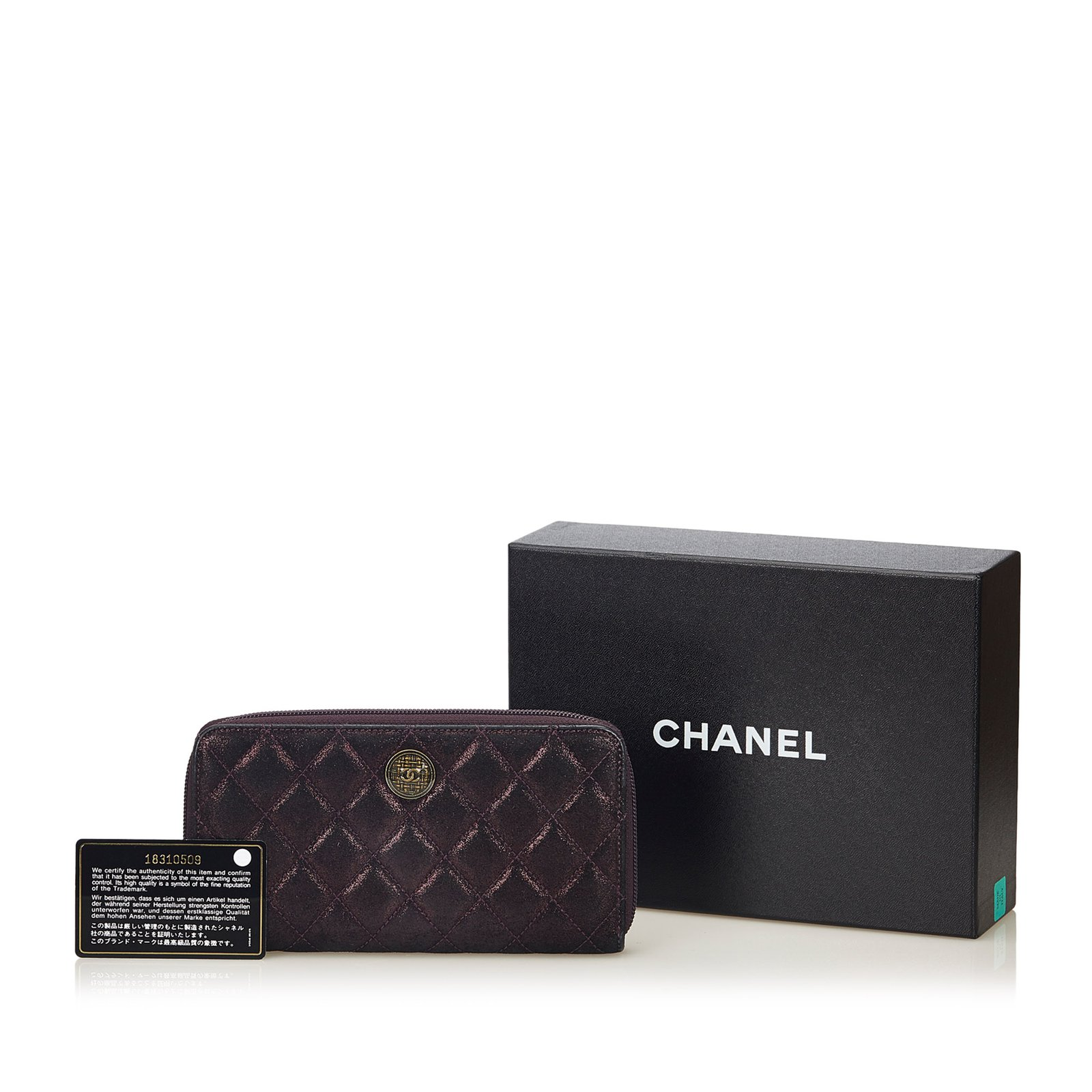 496bf0753d6f Chanel Matelasse Leather Long Wallet Purses, wallets, cases Leather ...