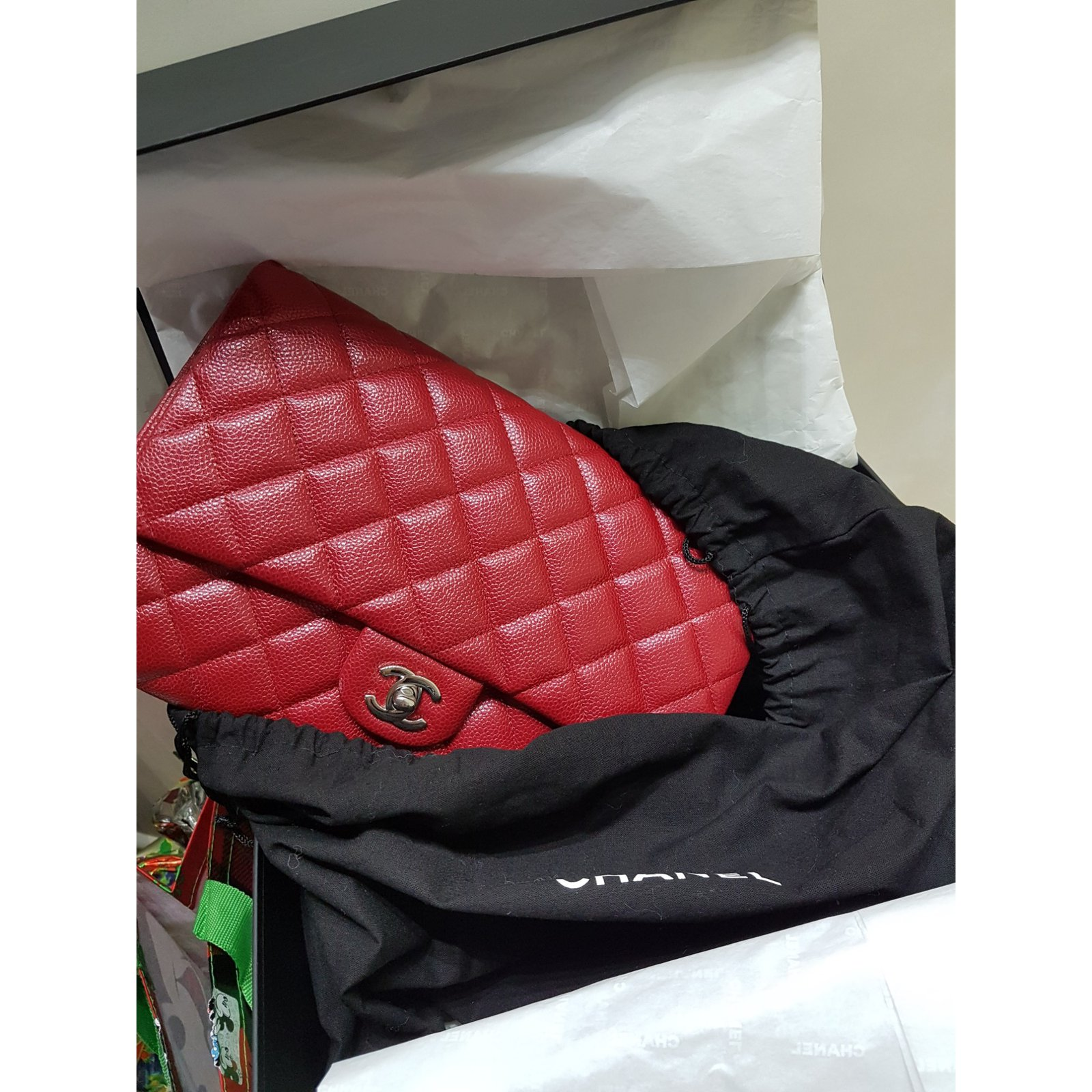 374cbf58c2dc Facebook · Pin This. Chanel Chanel bag Handbags Leather Red ref.102385