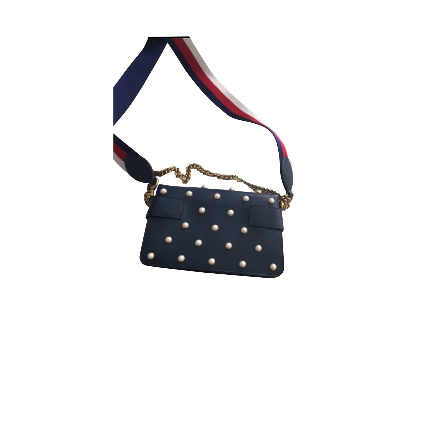 Gucci Handbags Handbags Leather Navy blue ref.102447 - Joli Closet 9c130d383c26b