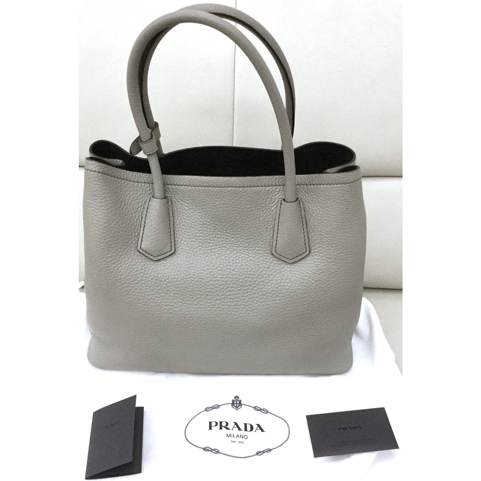 17895d7ac61b Prada Galleria Handbags Leather Grey ref.102678 - Joli Closet