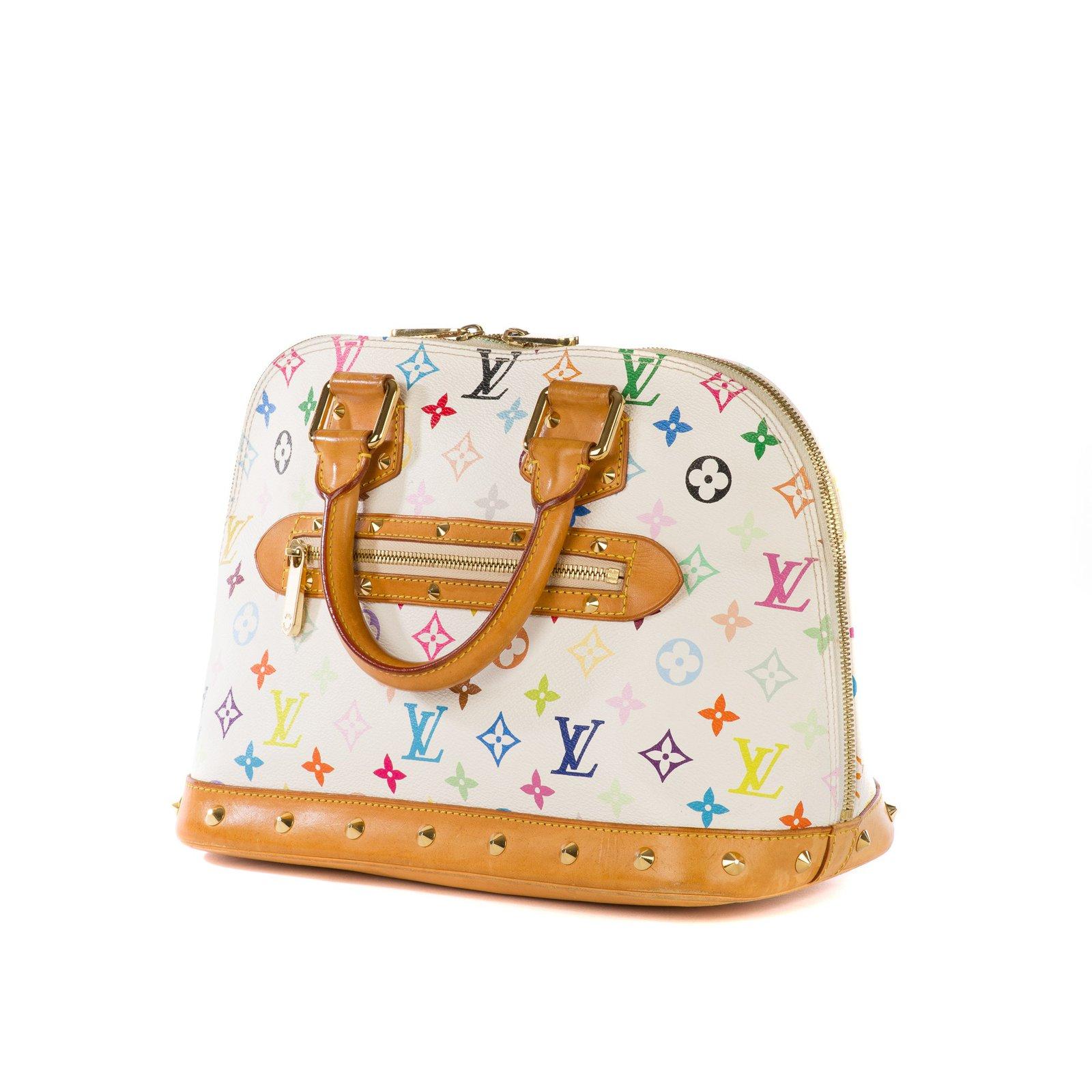 c5cb76a2f Louis Vuitton Louis Vuitton Alma Collector Murakami white multicolor bag! Handbags  Leather,Cloth White,Multiple colors ref.102738 - Joli Closet