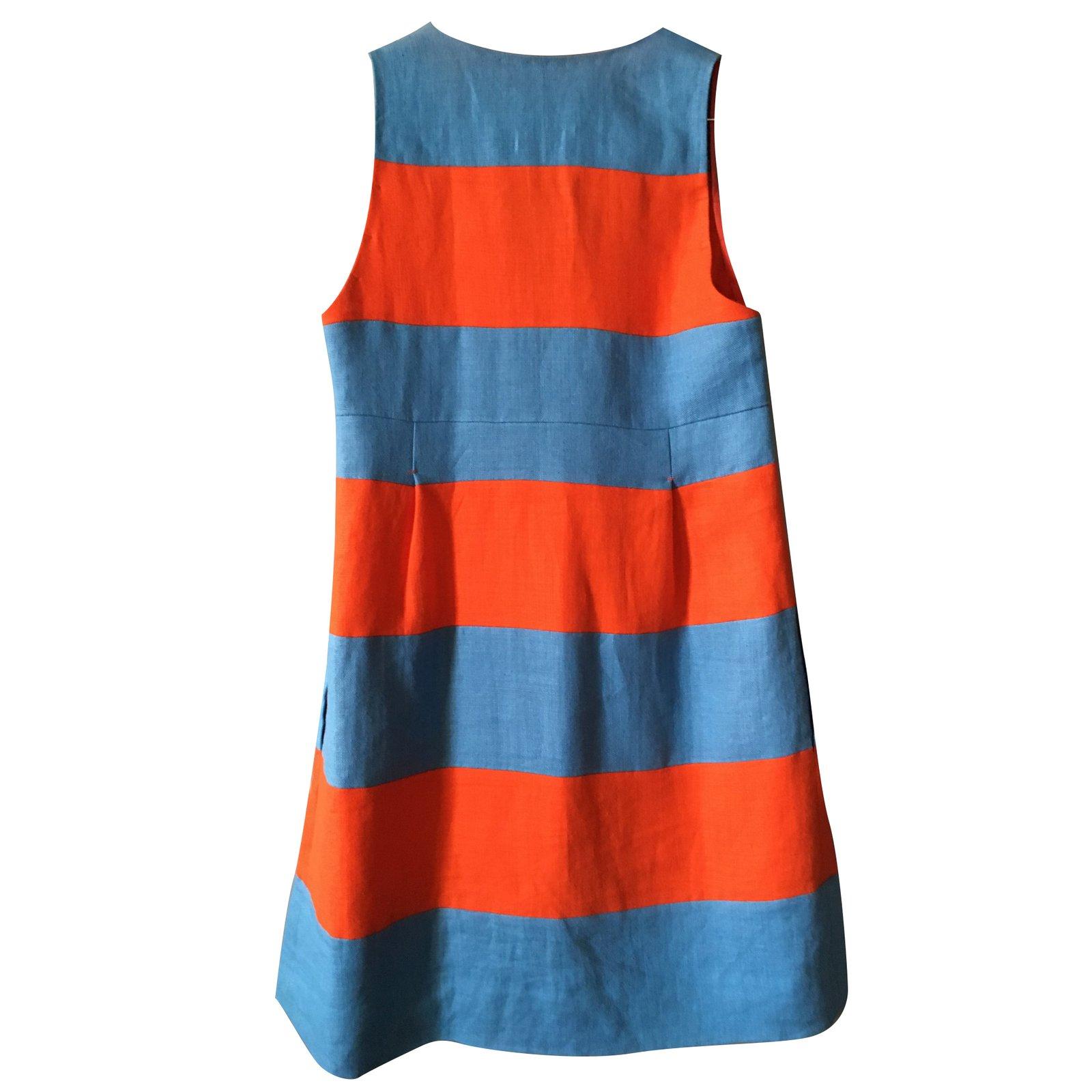 27c7e2a5851 Sonia By Sonia Rykiel Sonia Rykiel orange and blue striped linen ...