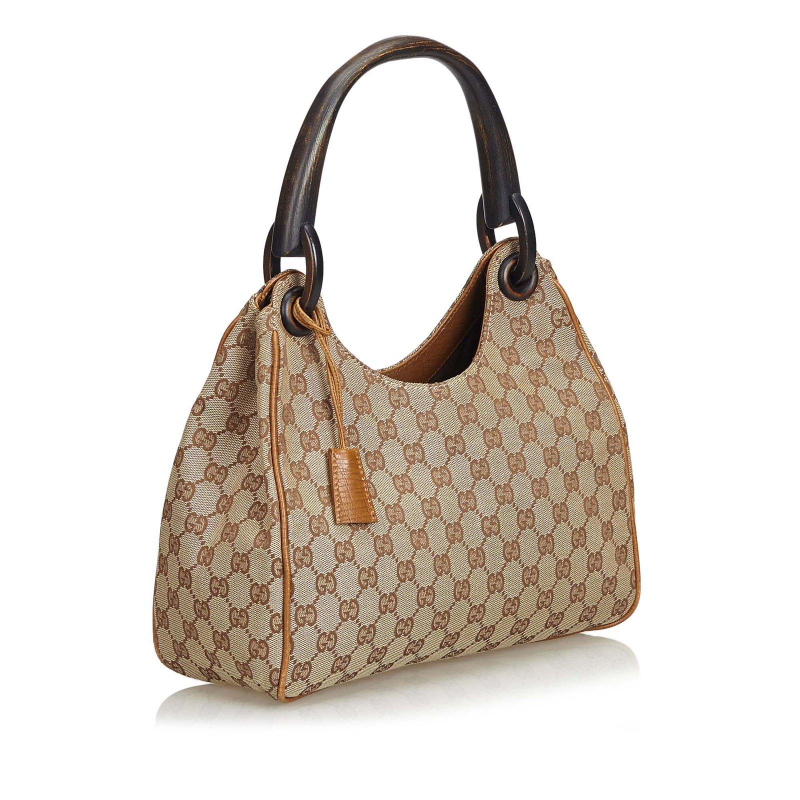 2e6c506a1e4c26 Gucci Guccissima Bamboo Canvas Handbag Handbags Leather,Other,Cloth ...