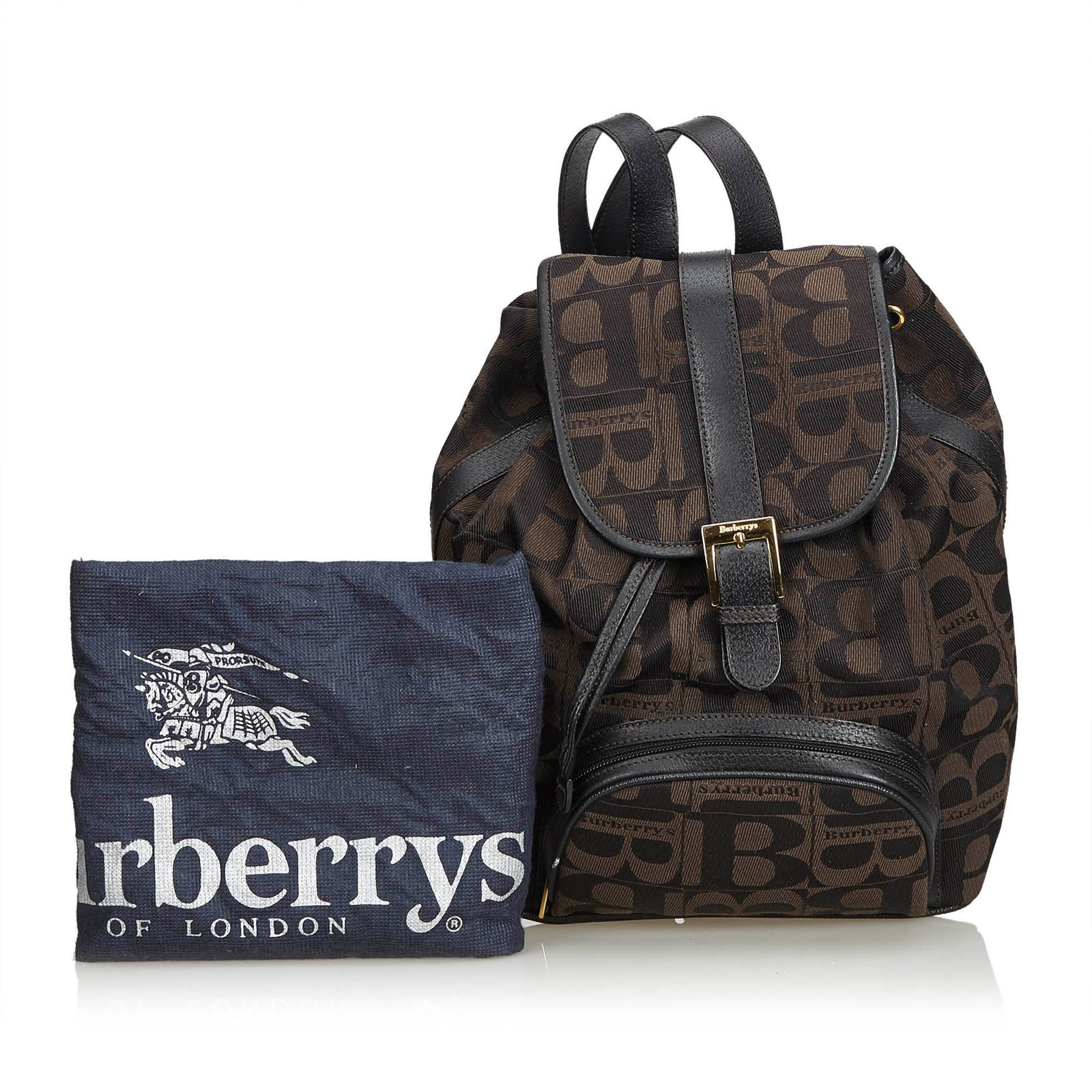 355743f50bef Burberry Canvas Drawstring Backpack Backpacks Leather,Other,Cloth ...