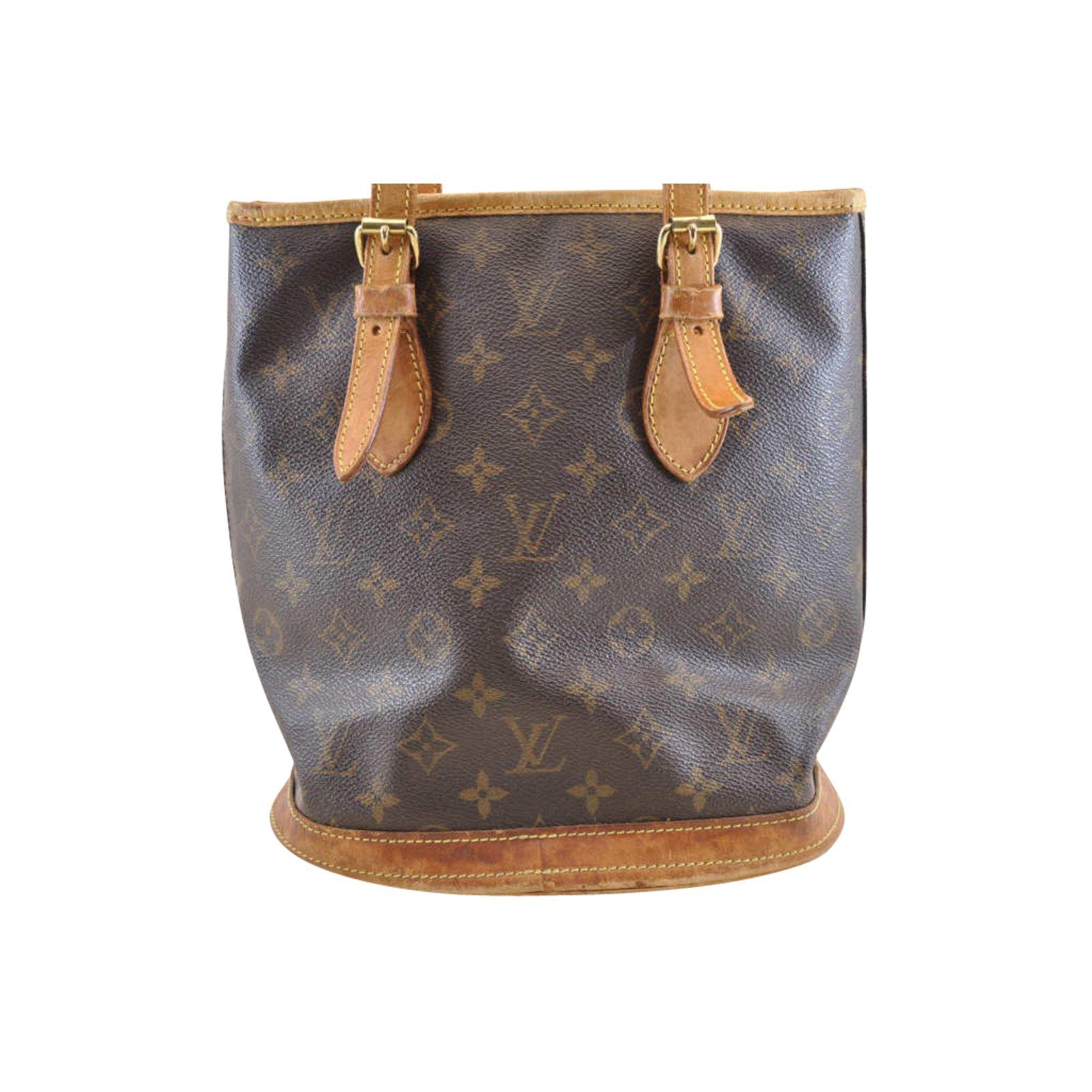 2c688d9c4985 Louis Vuitton Louis Vuitton Monogram Bucket PM Handbags Cloth Brown ...