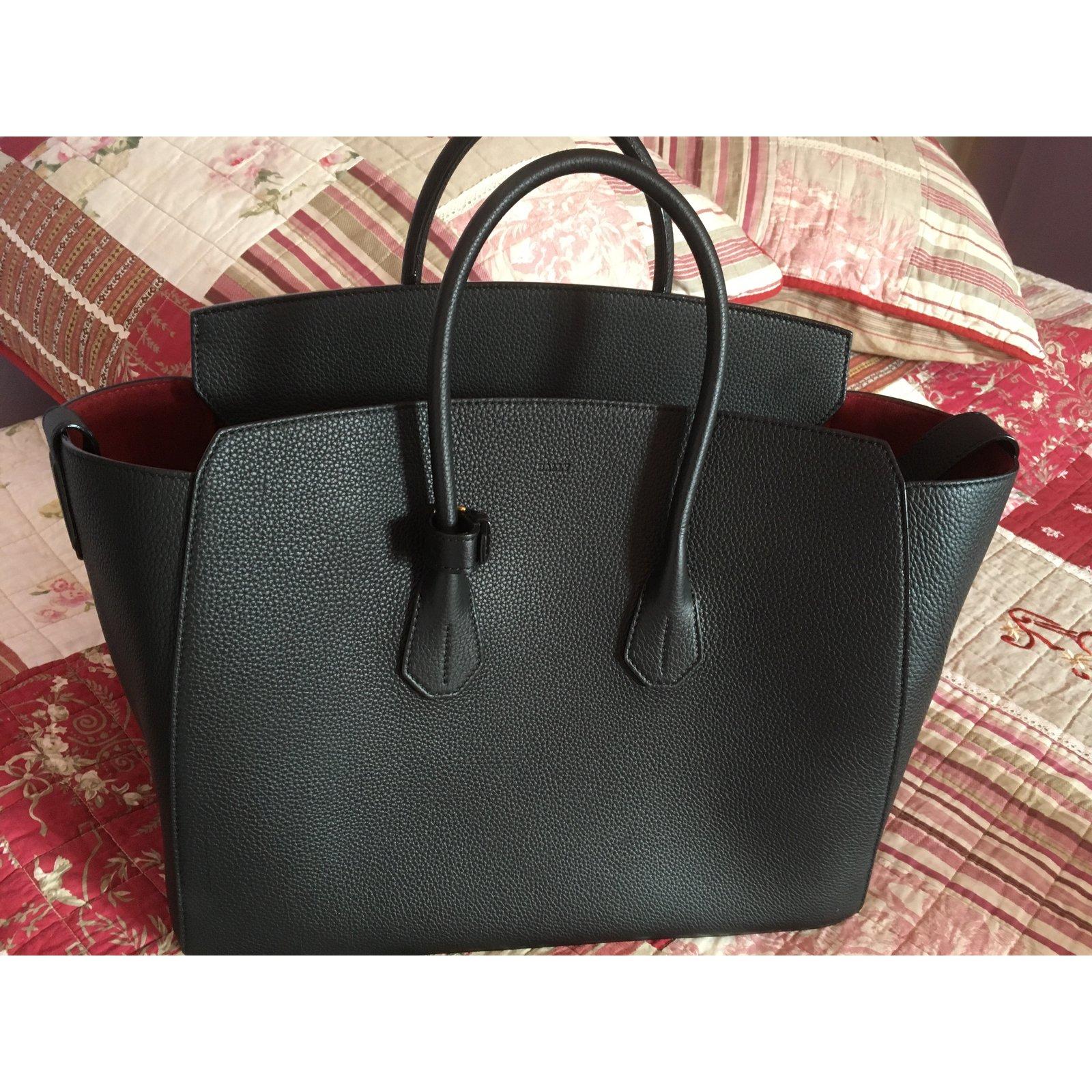 7cb60c3f7b Bally Big Bally Black Top Handbag Handbags Leather Black ref.103649 - Joli  Closet