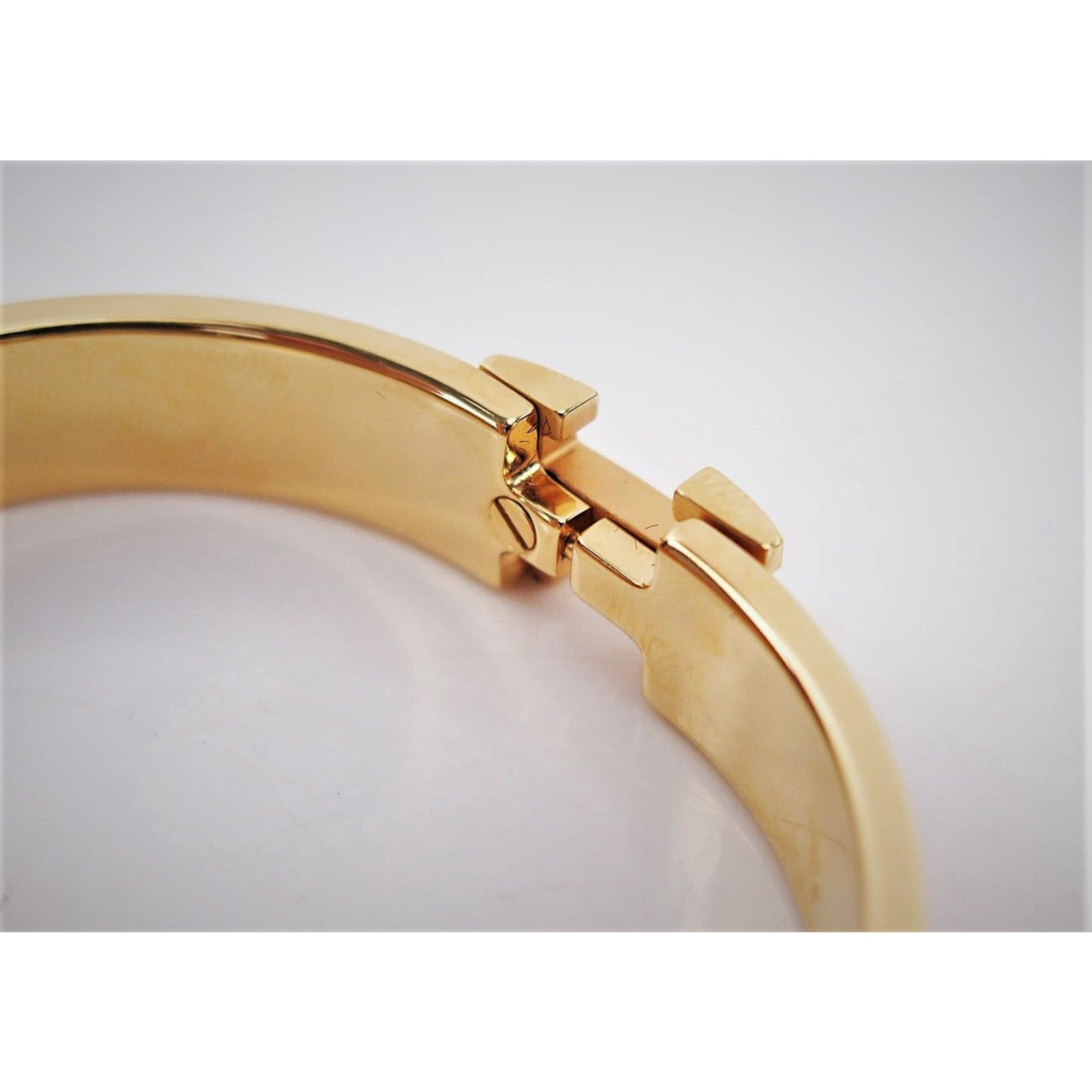 Herm 232 S Herm 232 S Click Clack H Gold Plated Bracelet And