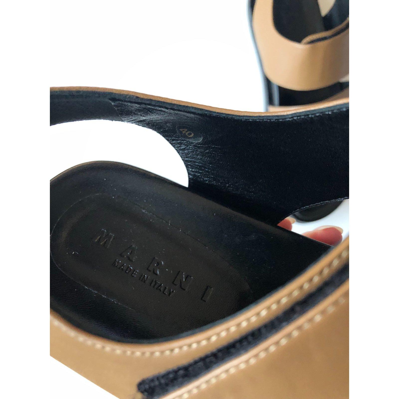 Italie En Sandale Cuir Made Marron In jq4c3AL5R