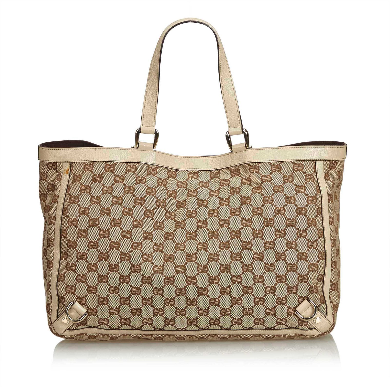 f6e30a91ed4d Gucci GG Abbey-D Ring Tote Bag Totes Leather,Other,Cloth Brown,White ...