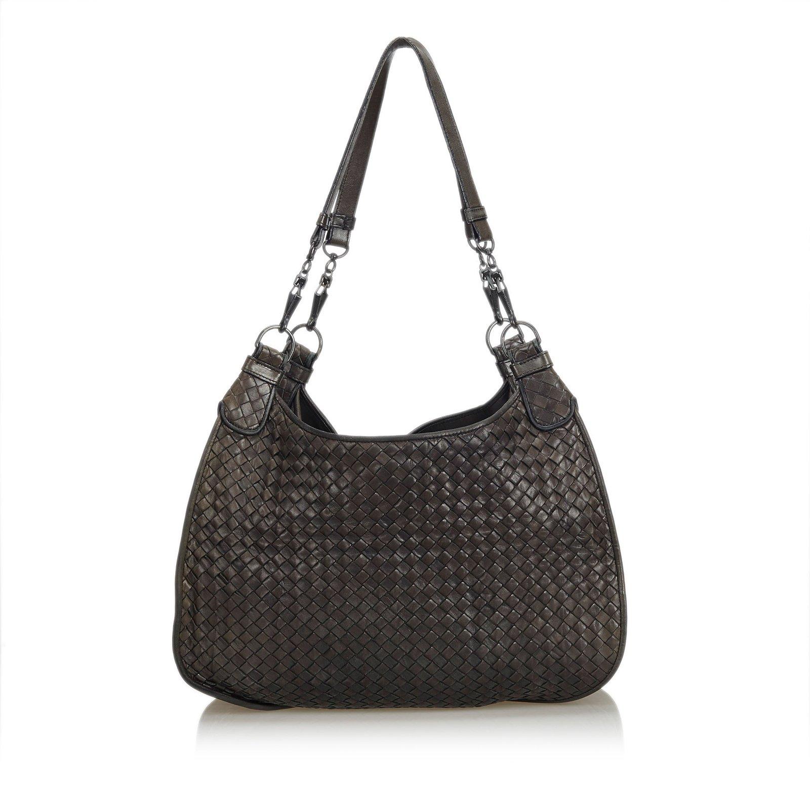 cb896628172f Bottega Veneta Intrecciato Leather Hobo Bag Handbags Leather