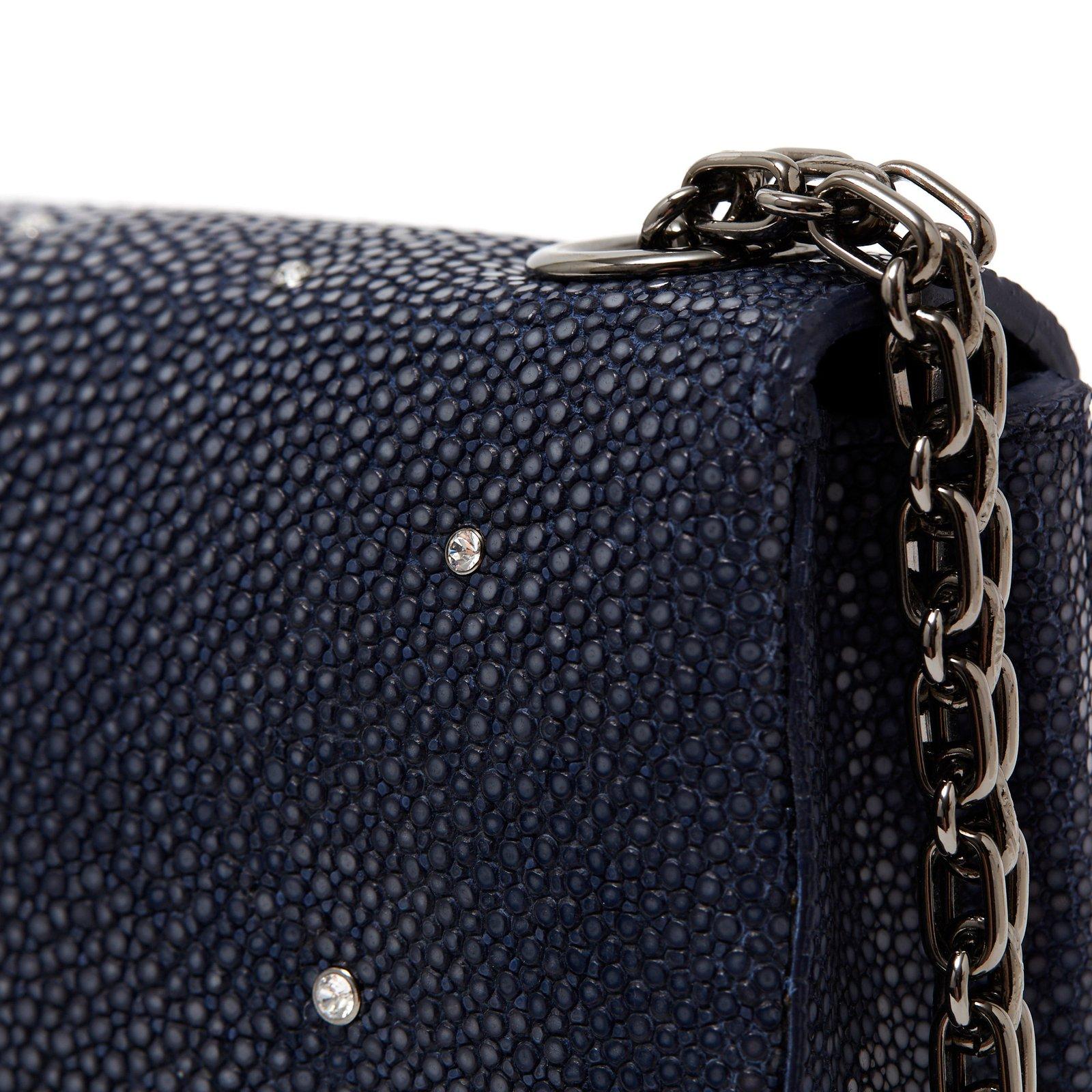e76216389daaa5 Chanel 2 55 Mini Precious Reen Handbags Other Dark Grey Ref
