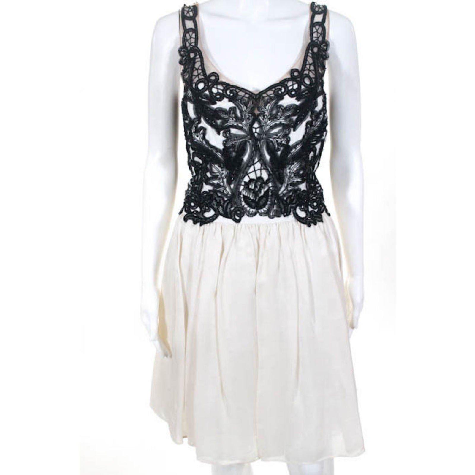 67504386f1ed Marchesa Marchesa Notte Gazaar silk dress Dresses Silk Black,White ...