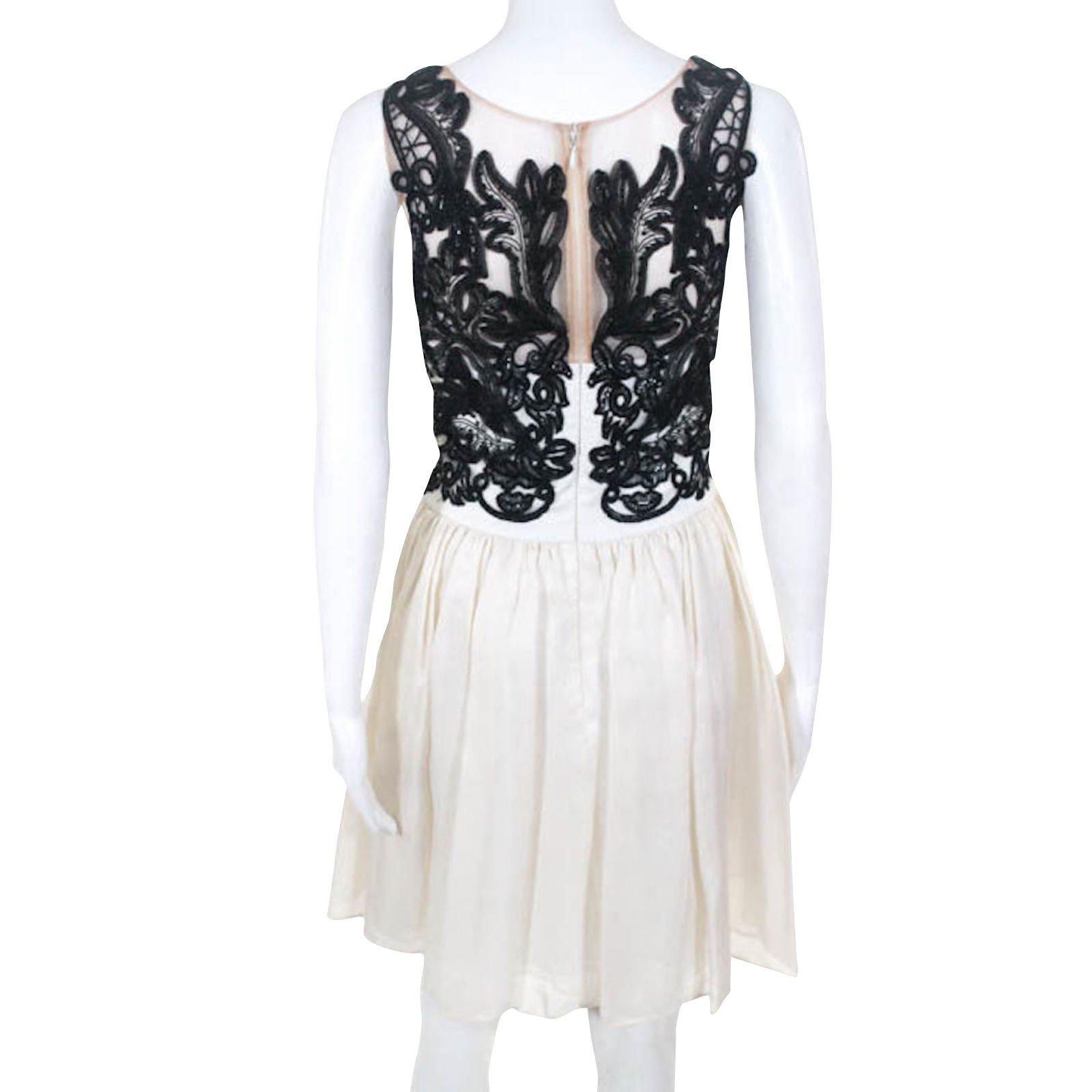 b73e366b1223 Marchesa Marchesa Notte Gazaar silk dress Dresses Silk Black,White  ref.99578 - Joli Closet