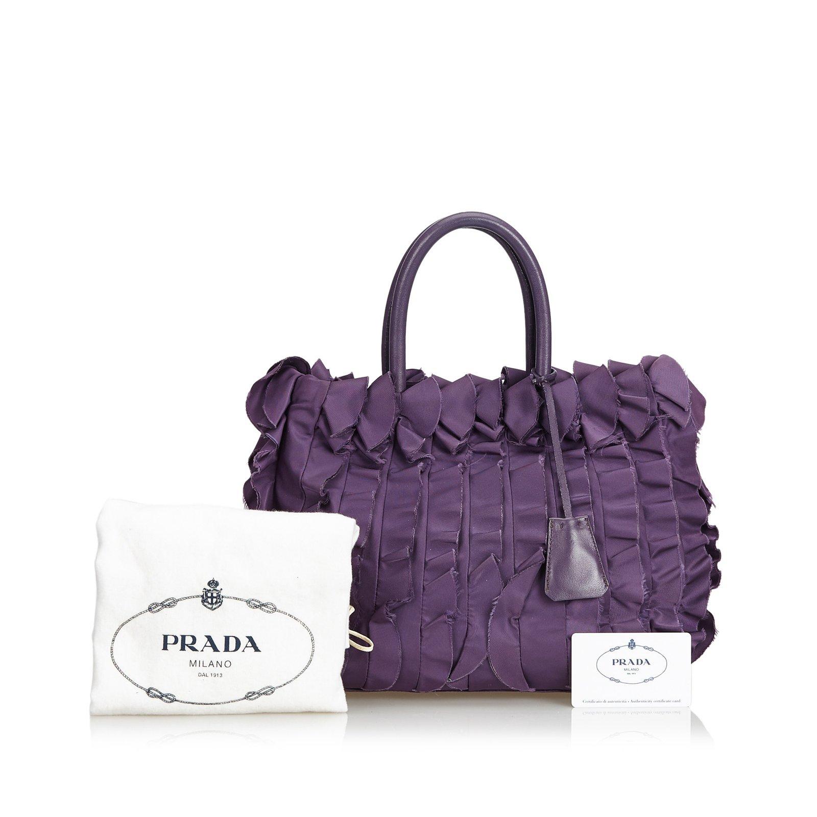 27135b57c394 Prada Gathered Nylon Tote Bag Totes Leather