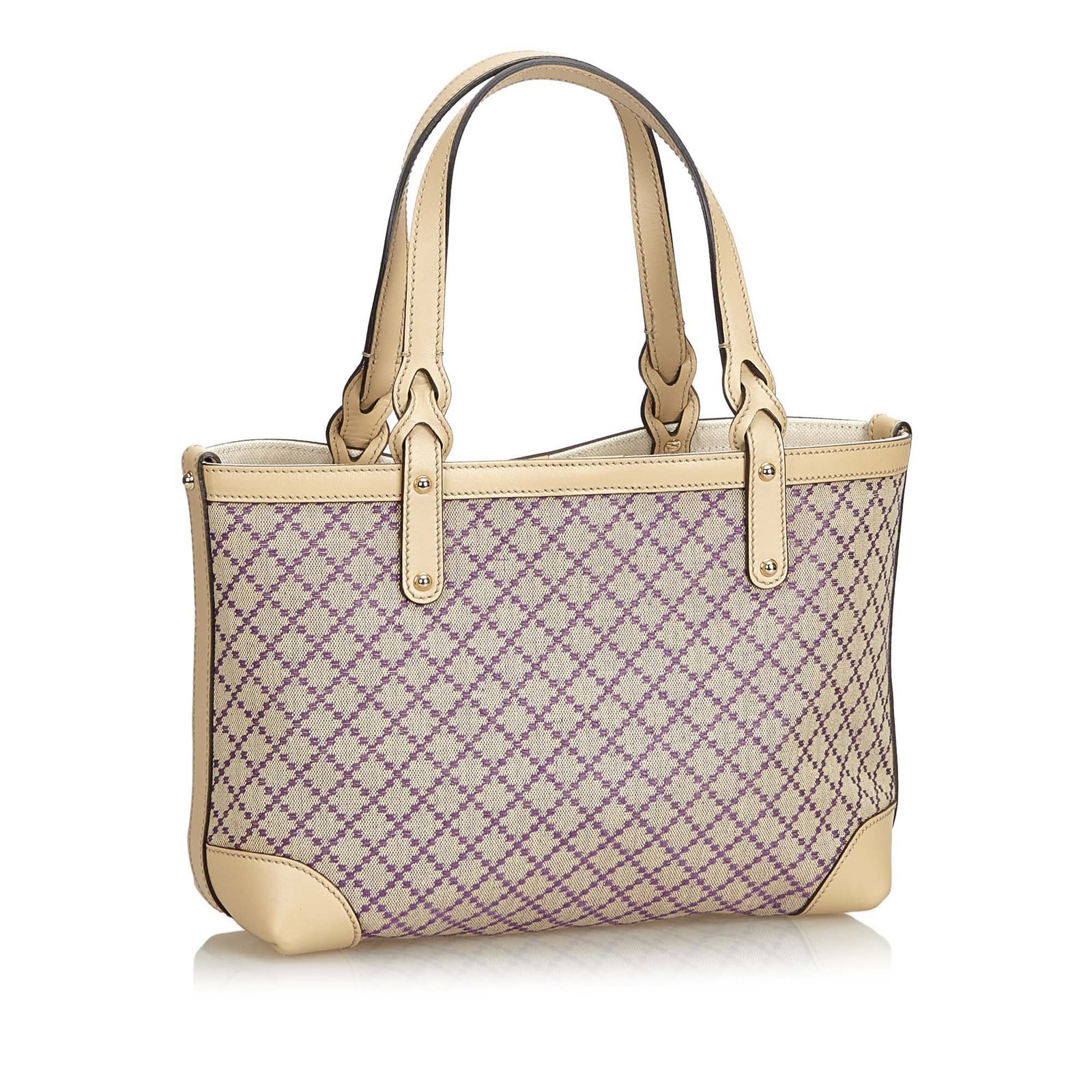 6d3dc2f798b6 Gucci Diamante Craft Tote Bag Totes Leather,Other,Cloth,Cloth Brown ...