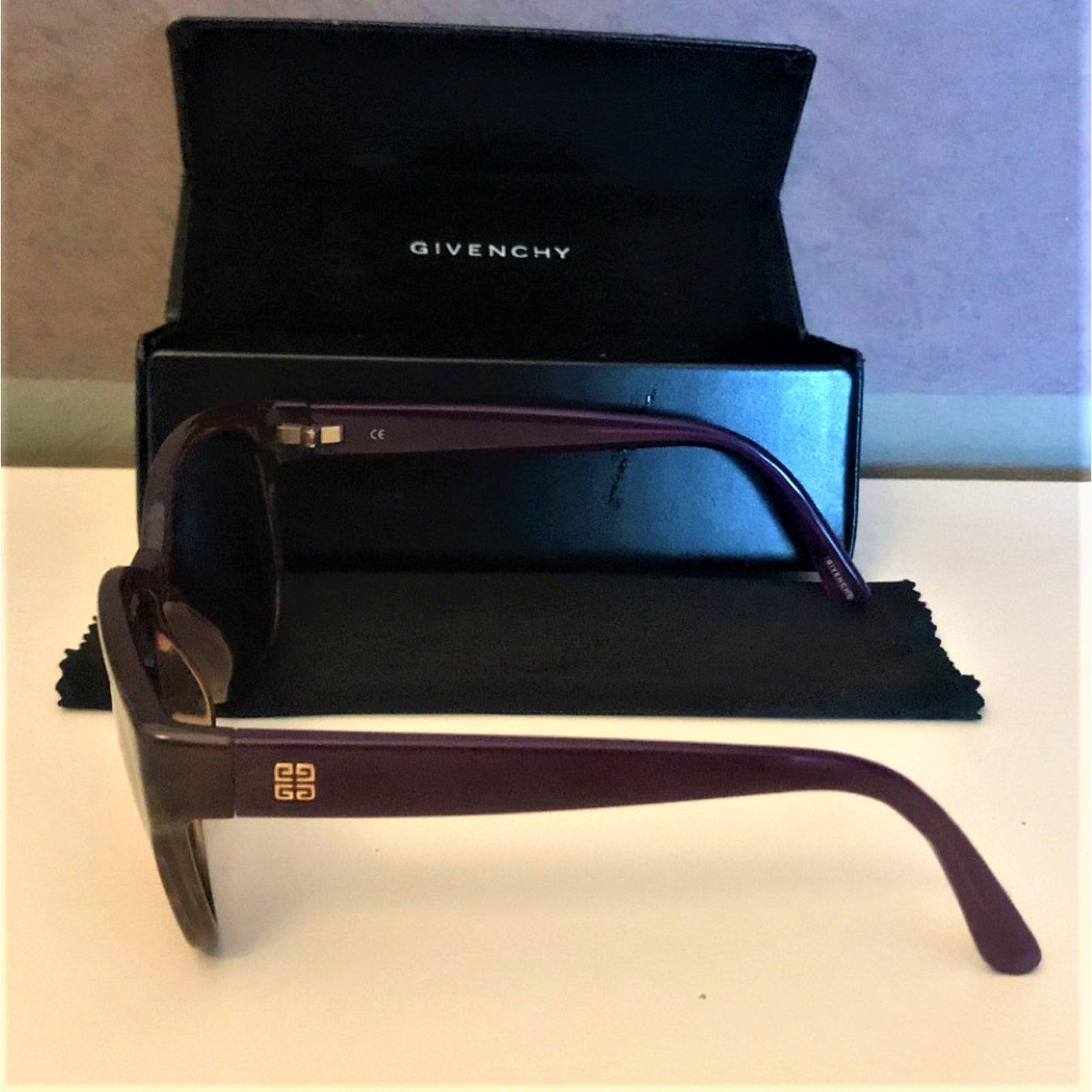 Lunettes Givenchy Lunette de soleil Givenchy Plastique Violet ref.99715 -  Joli Closet 668e0bf17777