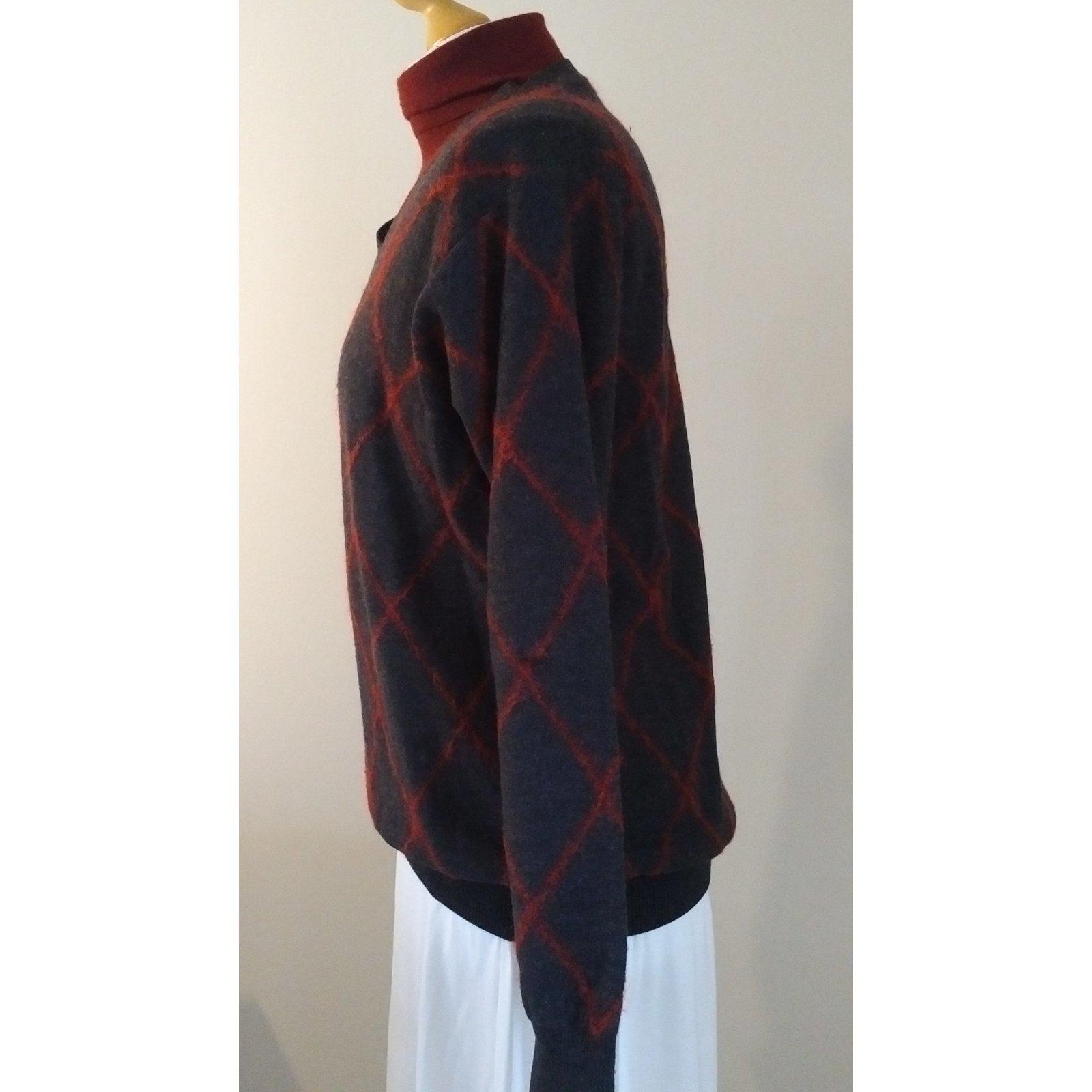 67106fc3c269d0 Pringle Of Scotland Dark Grey Pringle Argyle Knitwear Wool Dark grey  ref.105459 - Joli Closet